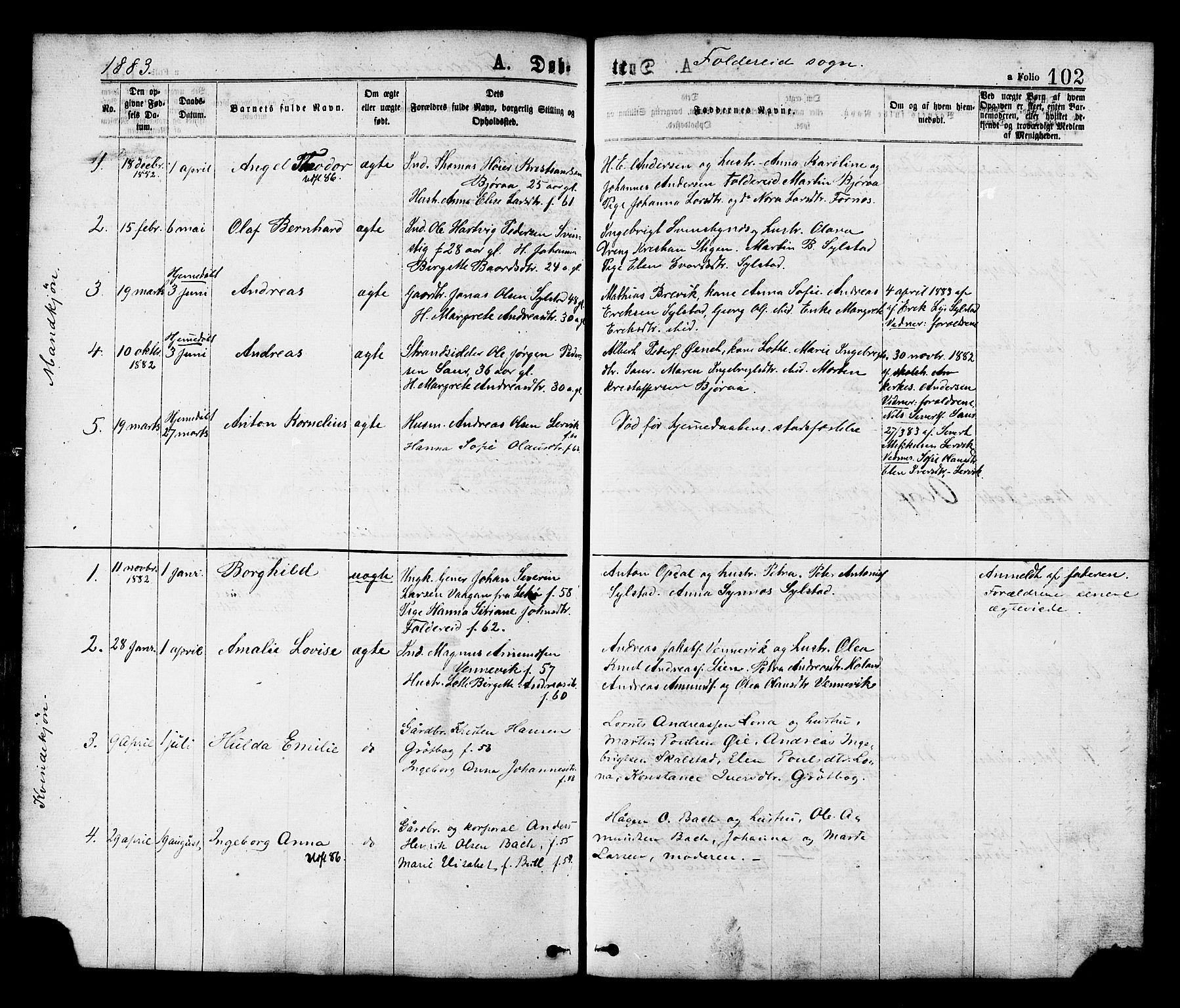 SAT, Ministerialprotokoller, klokkerbøker og fødselsregistre - Nord-Trøndelag, 780/L0642: Ministerialbok nr. 780A07 /2, 1878-1885, s. 102