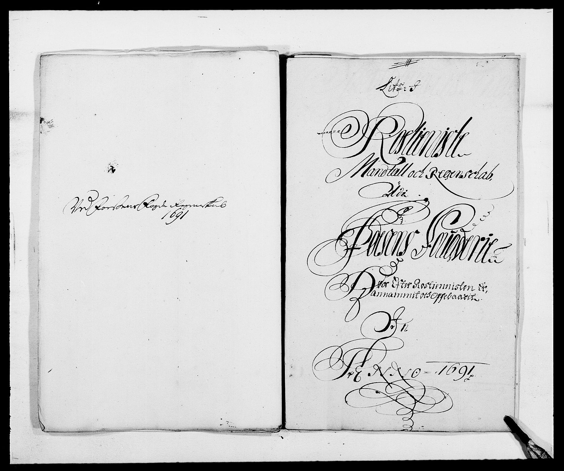 RA, Rentekammeret inntil 1814, Reviderte regnskaper, Fogderegnskap, R57/L3848: Fogderegnskap Fosen, 1690-1691, s. 294