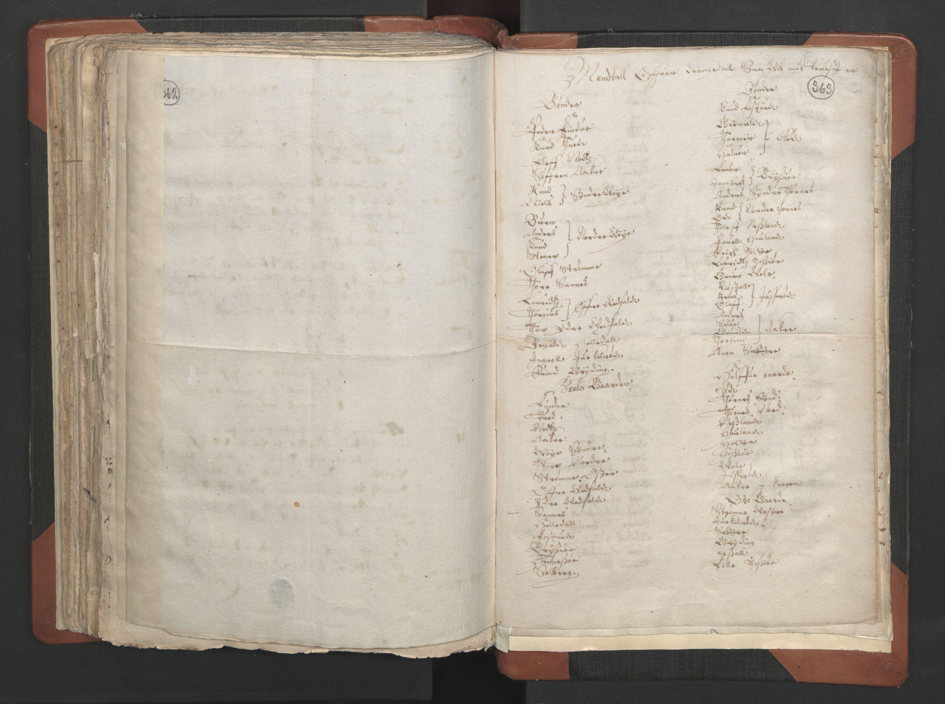RA, Sogneprestenes manntall 1664-1666, nr. 12: Øvre Telemark prosti, Nedre Telemark prosti og Bamble prosti, 1664-1666, s. 362-363