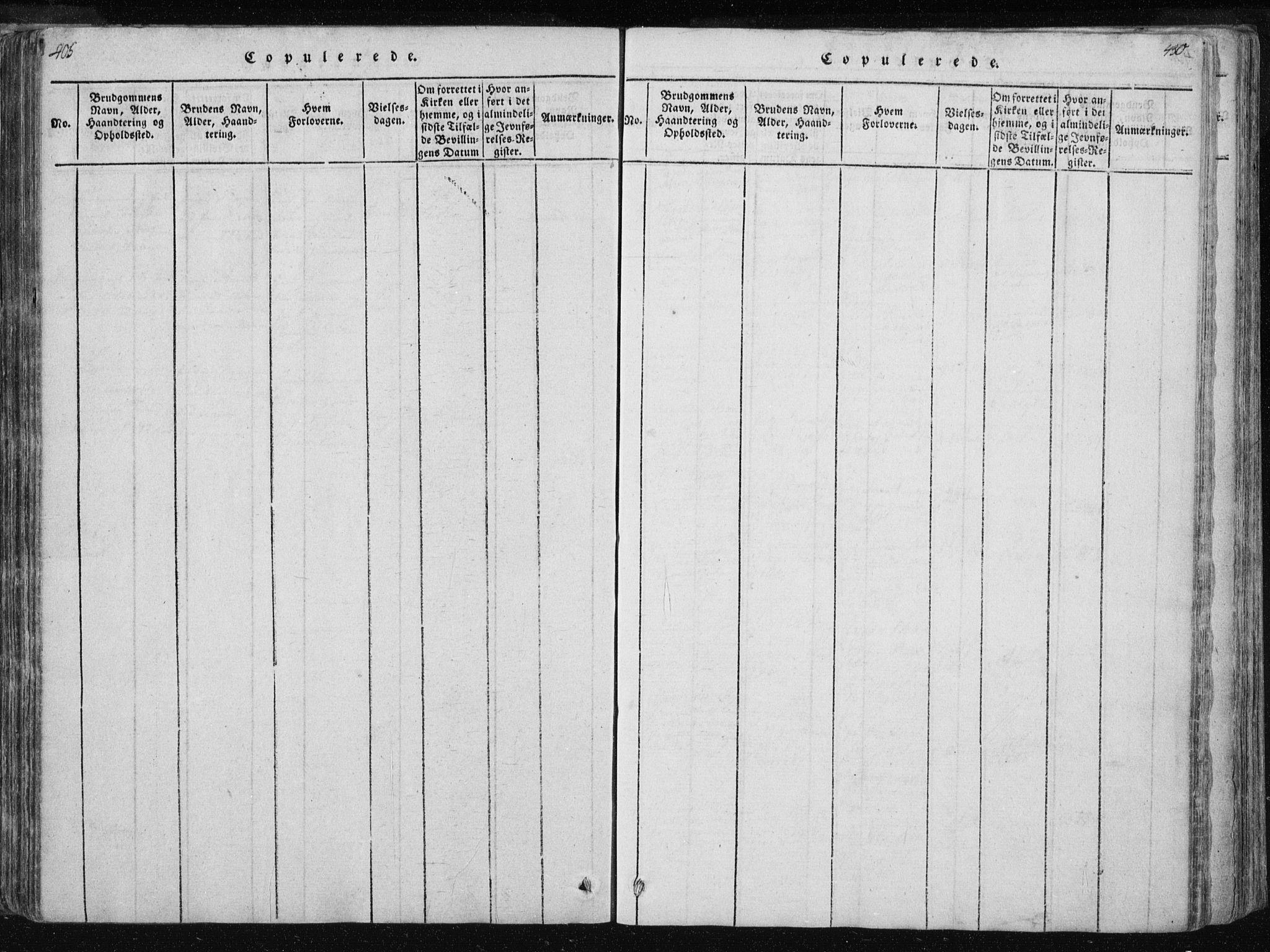 SAT, Ministerialprotokoller, klokkerbøker og fødselsregistre - Nord-Trøndelag, 717/L0148: Ministerialbok nr. 717A04 /1, 1816-1825, s. 405-406