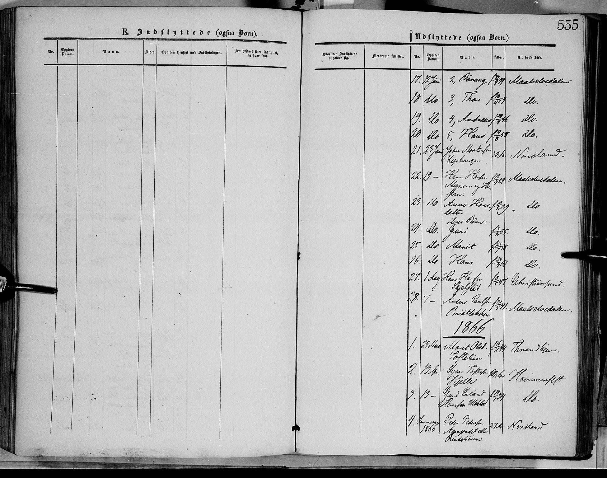 SAH, Dovre prestekontor, Ministerialbok nr. 1, 1854-1878, s. 555