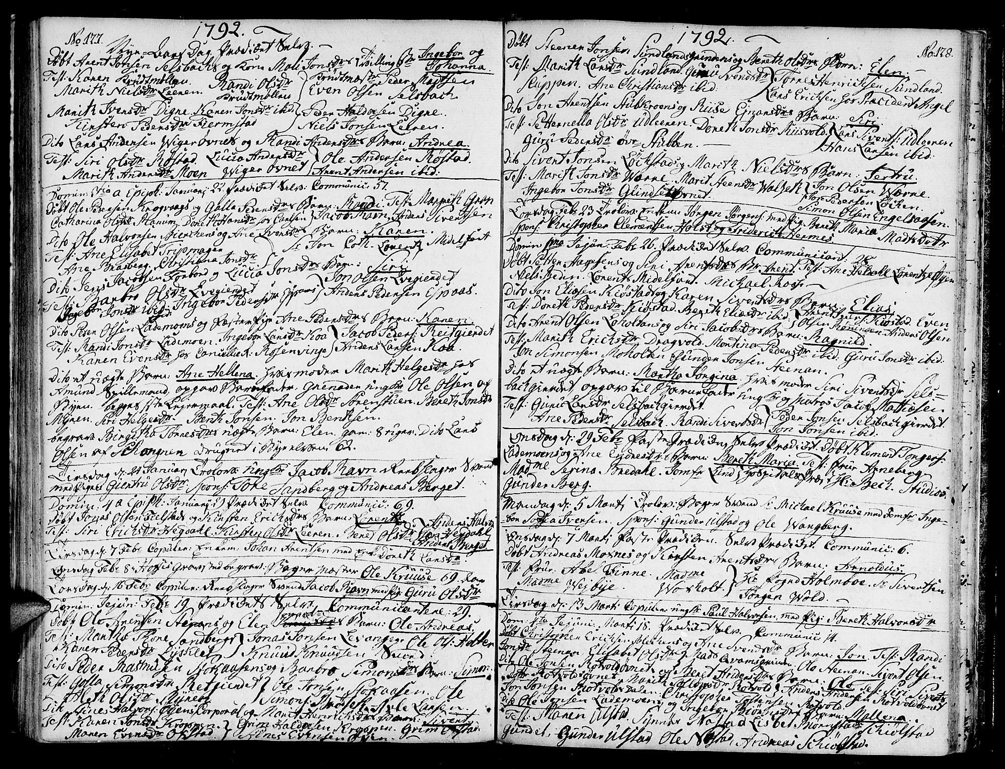 SAT, Ministerialprotokoller, klokkerbøker og fødselsregistre - Sør-Trøndelag, 604/L0180: Ministerialbok nr. 604A01, 1780-1797, s. 127-128