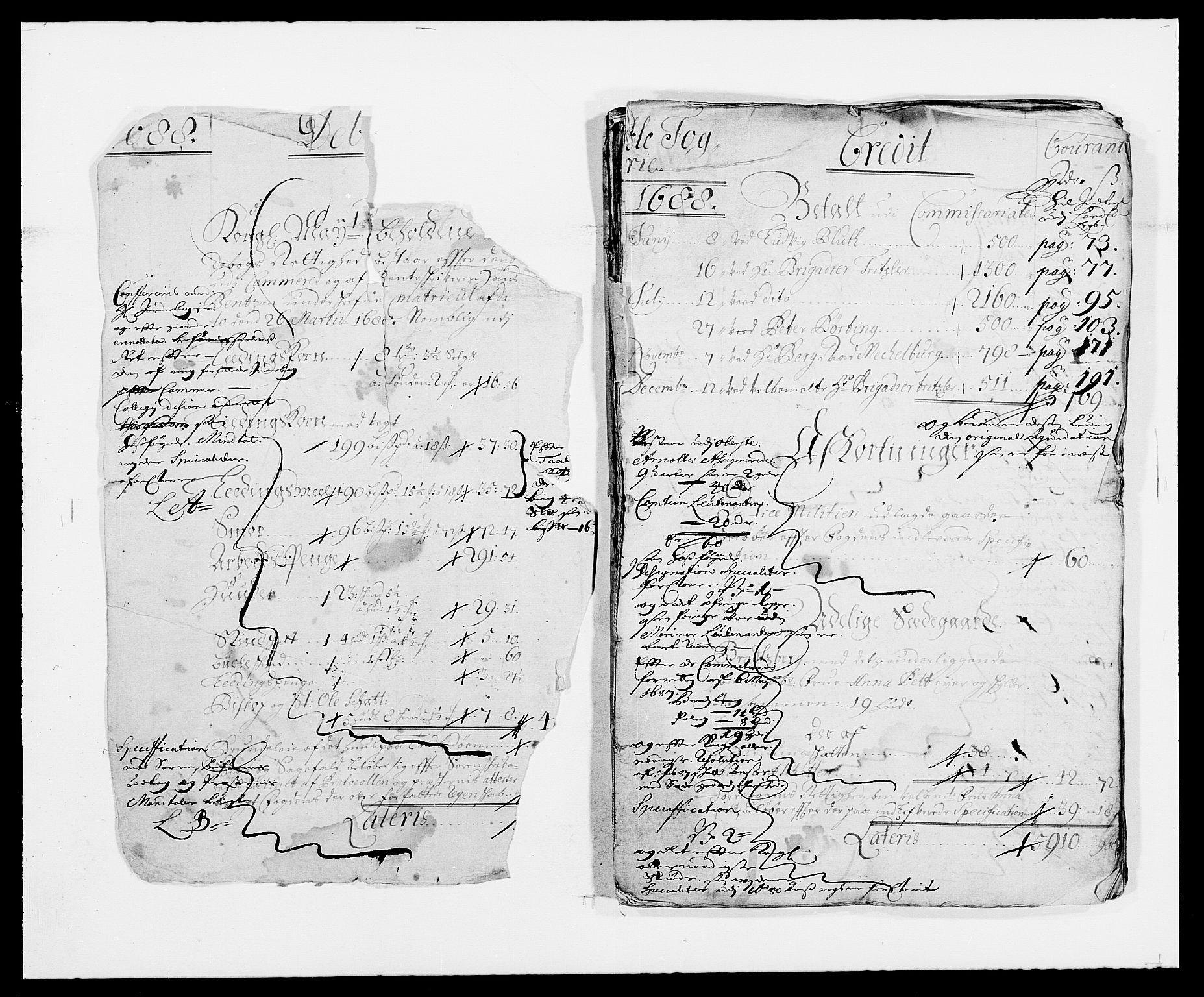 RA, Rentekammeret inntil 1814, Reviderte regnskaper, Fogderegnskap, R34/L2050: Fogderegnskap Bamble, 1688-1691, s. 2