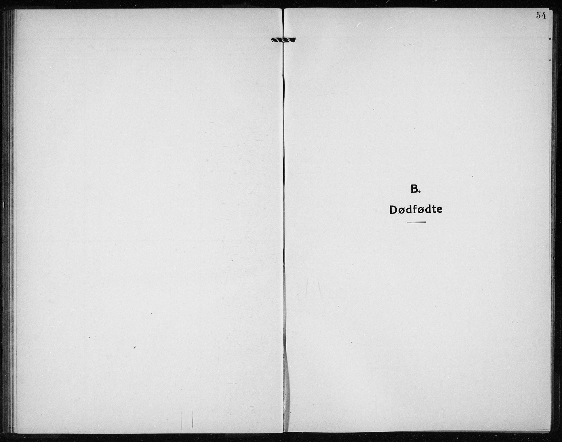 SAB, Kvinnherad Sokneprestembete, H/Haa: Ministerialbok nr. G  1, 1920-1927, s. 54