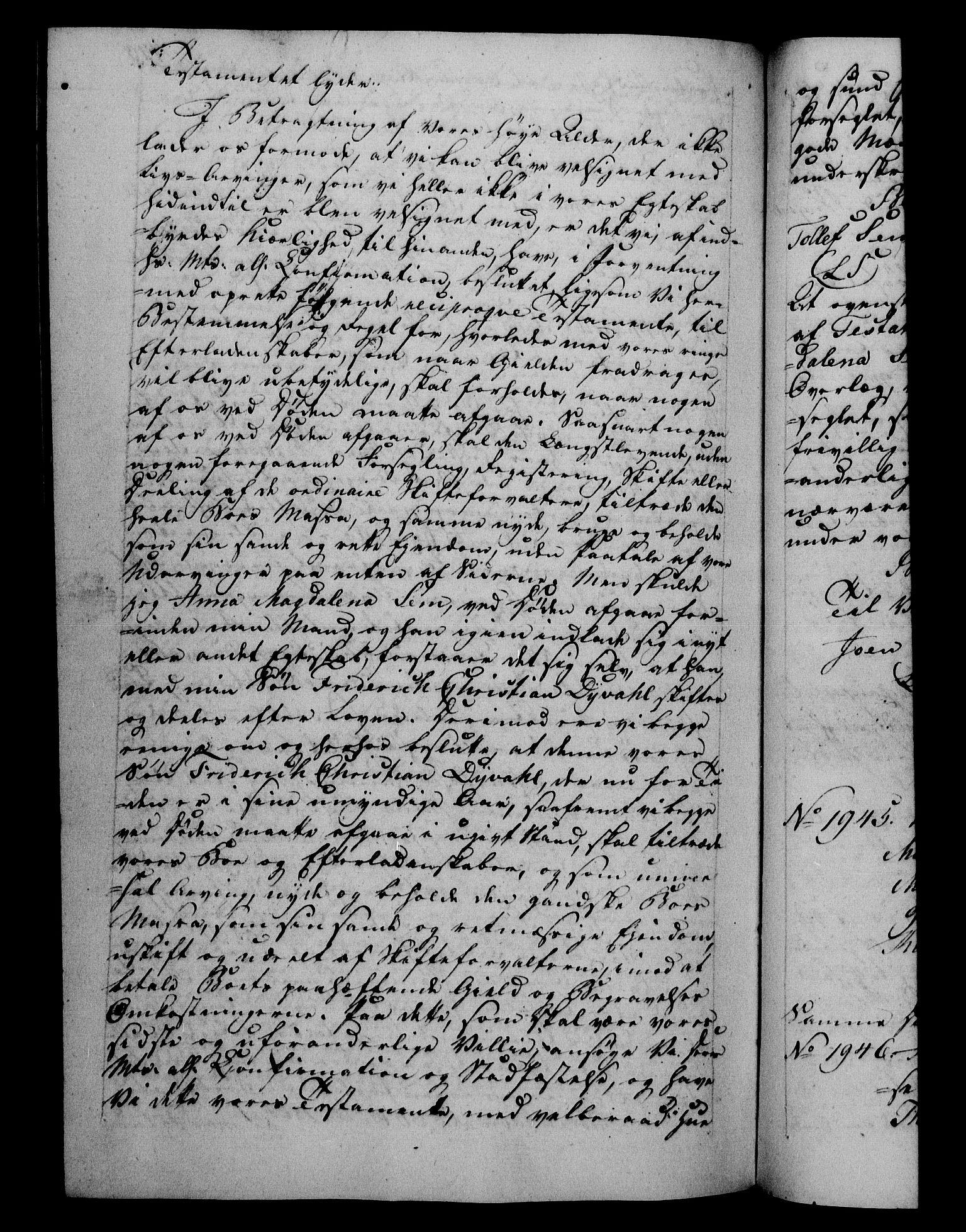 RA, Danske Kanselli 1800-1814, H/Hf/Hfb/Hfba/L0001: Registranter, 1800-1801, s. 443b
