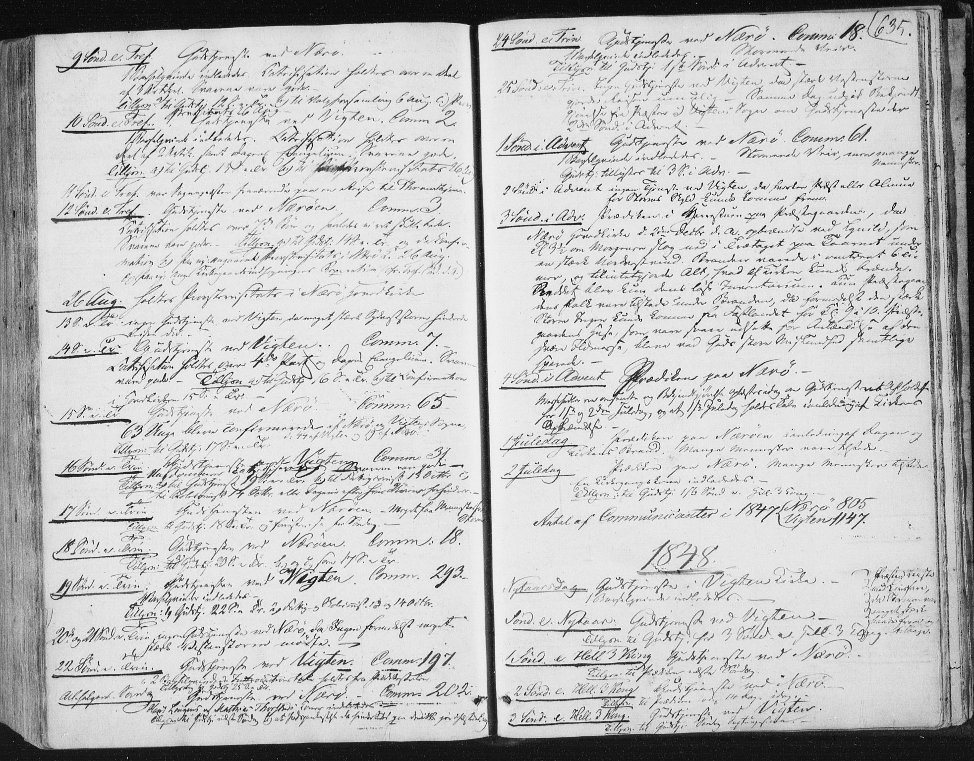 SAT, Ministerialprotokoller, klokkerbøker og fødselsregistre - Nord-Trøndelag, 784/L0669: Ministerialbok nr. 784A04, 1829-1859, s. 635