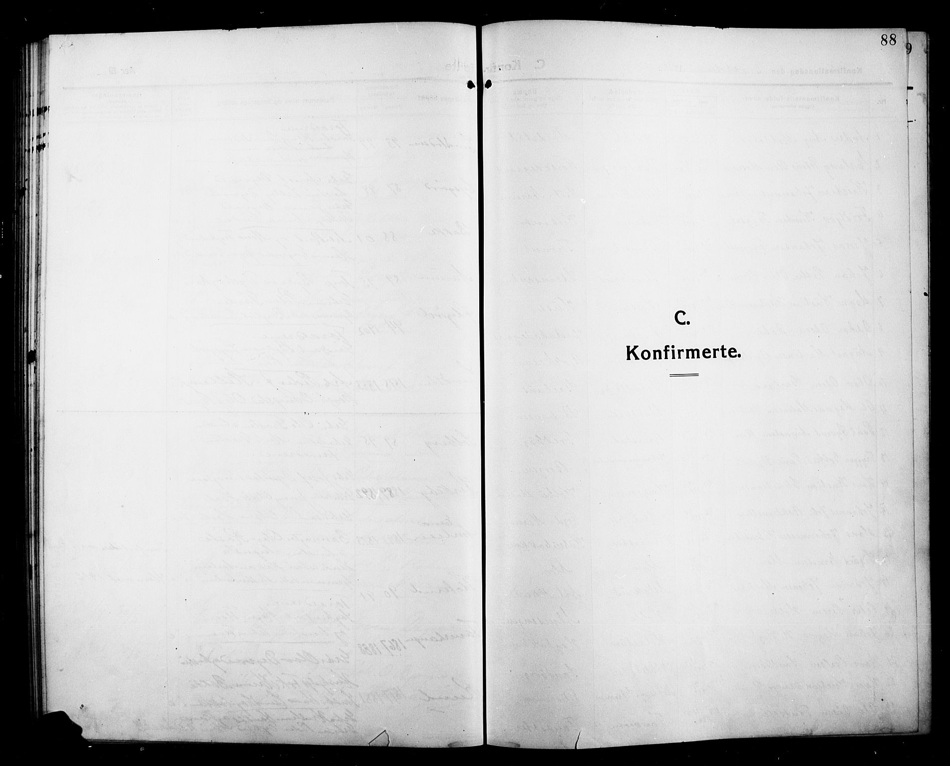 SAH, Kolbu prestekontor, Klokkerbok nr. 1, 1912-1925, s. 88