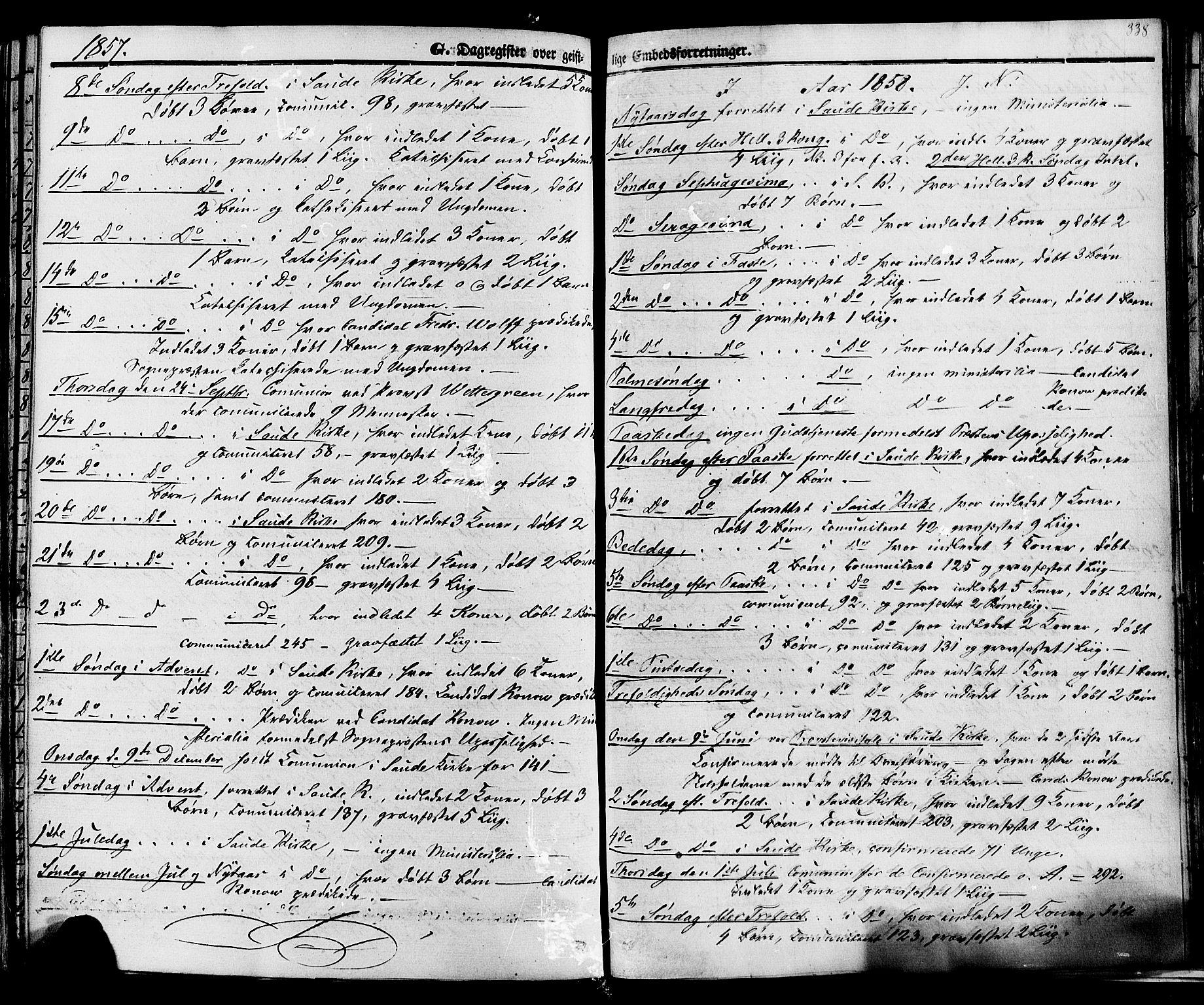 SAKO, Sauherad kirkebøker, F/Fa/L0007: Ministerialbok nr. I 7, 1851-1873, s. 338