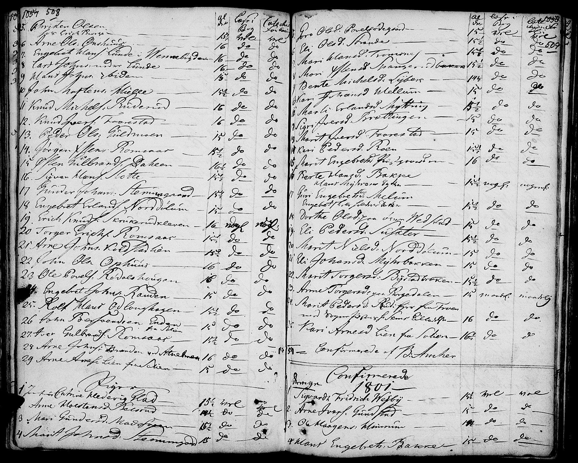 SAH, Ringebu prestekontor, Ministerialbok nr. 3, 1781-1820, s. 508-509