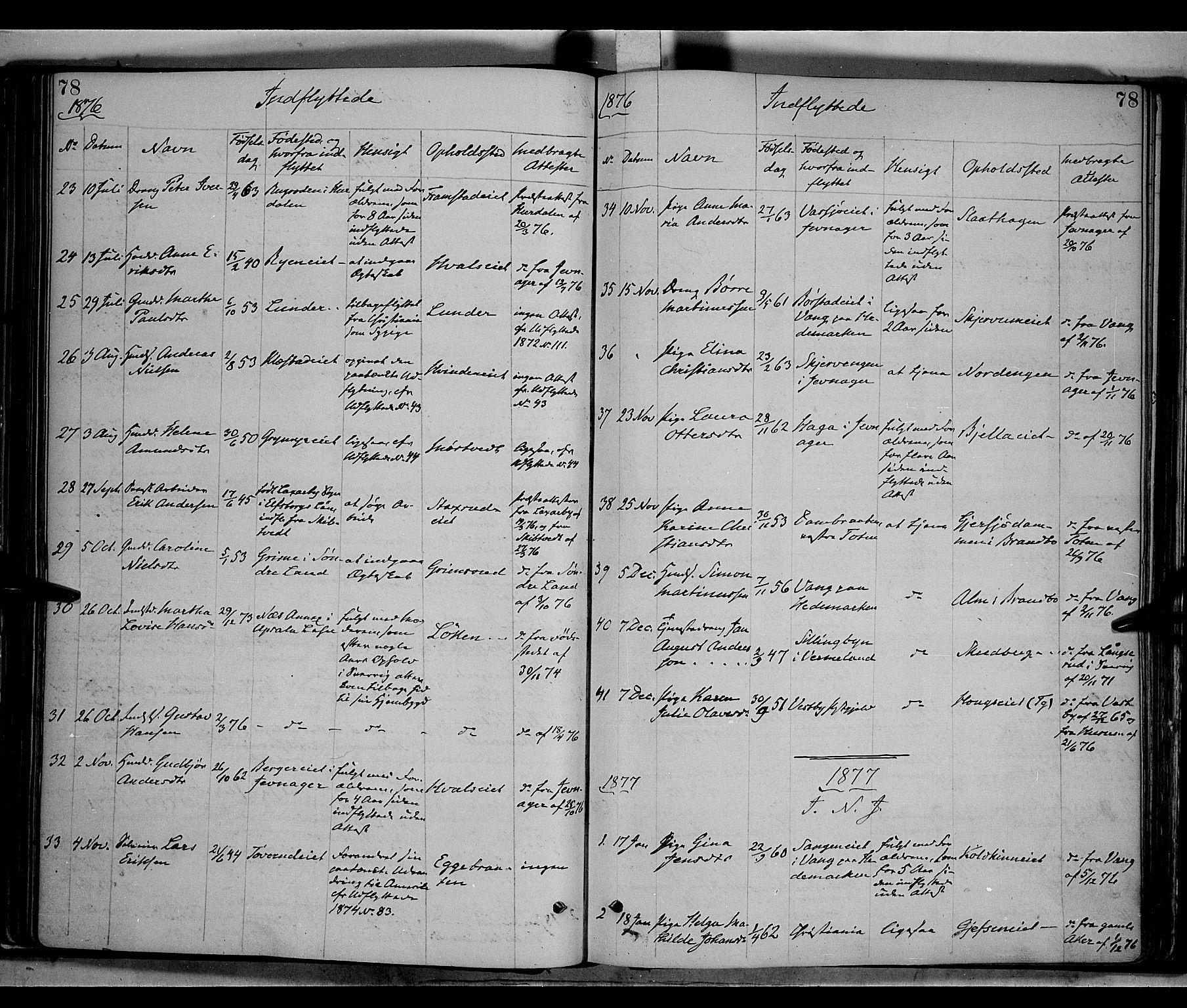 SAH, Gran prestekontor, Ministerialbok nr. 13, 1875-1879, s. 78