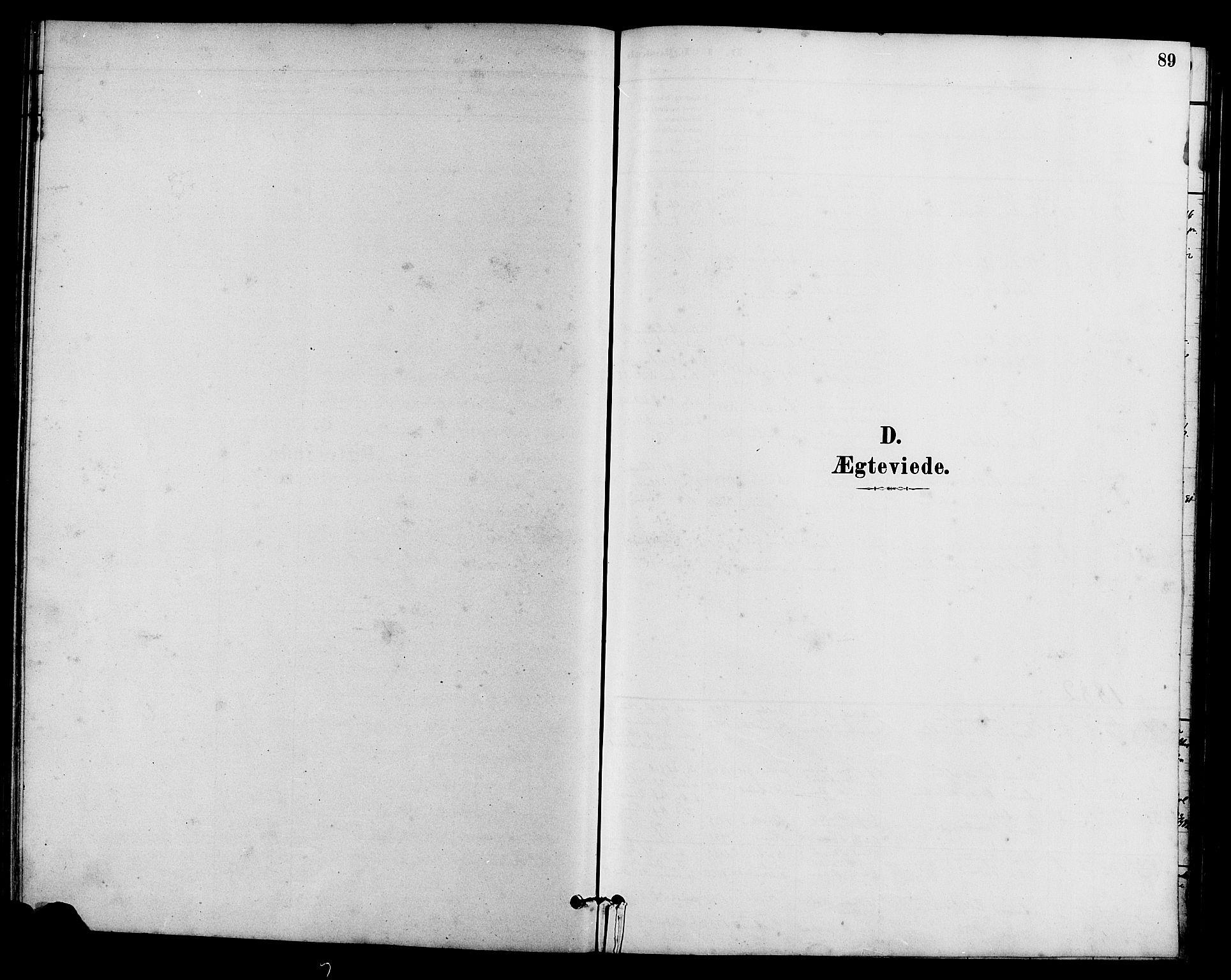 SAH, Vestre Slidre prestekontor, Klokkerbok nr. 5, 1881-1913, s. 89