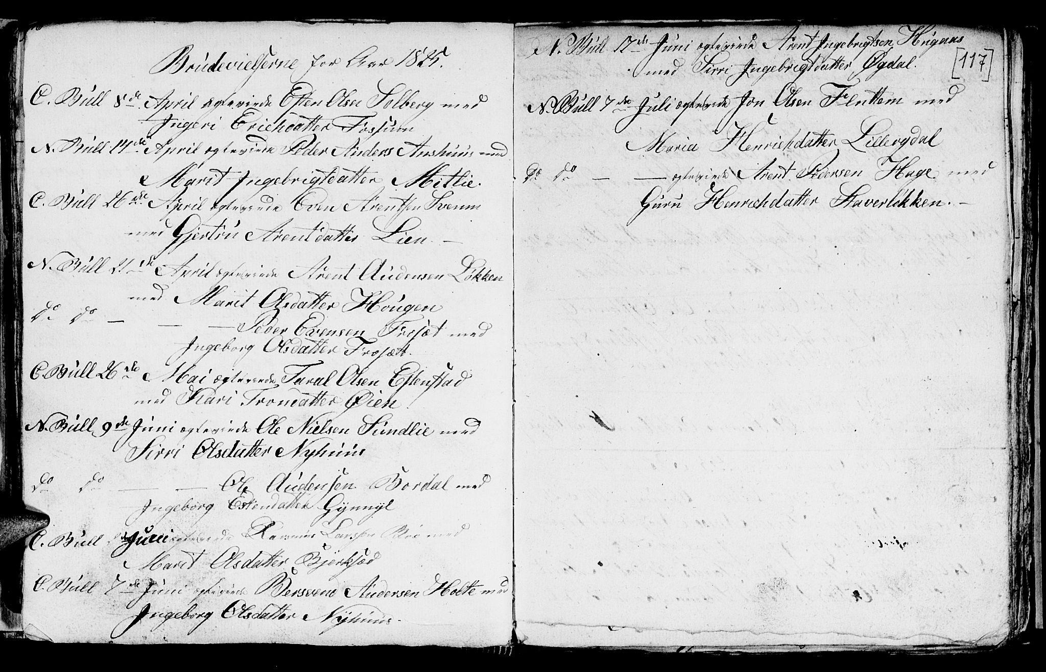 SAT, Ministerialprotokoller, klokkerbøker og fødselsregistre - Sør-Trøndelag, 689/L1042: Klokkerbok nr. 689C01, 1812-1841, s. 116-117