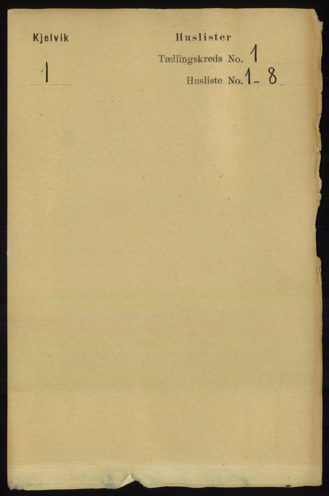 RA, Folketelling 1891 for 2019 Kjelvik herred, 1891, s. 25