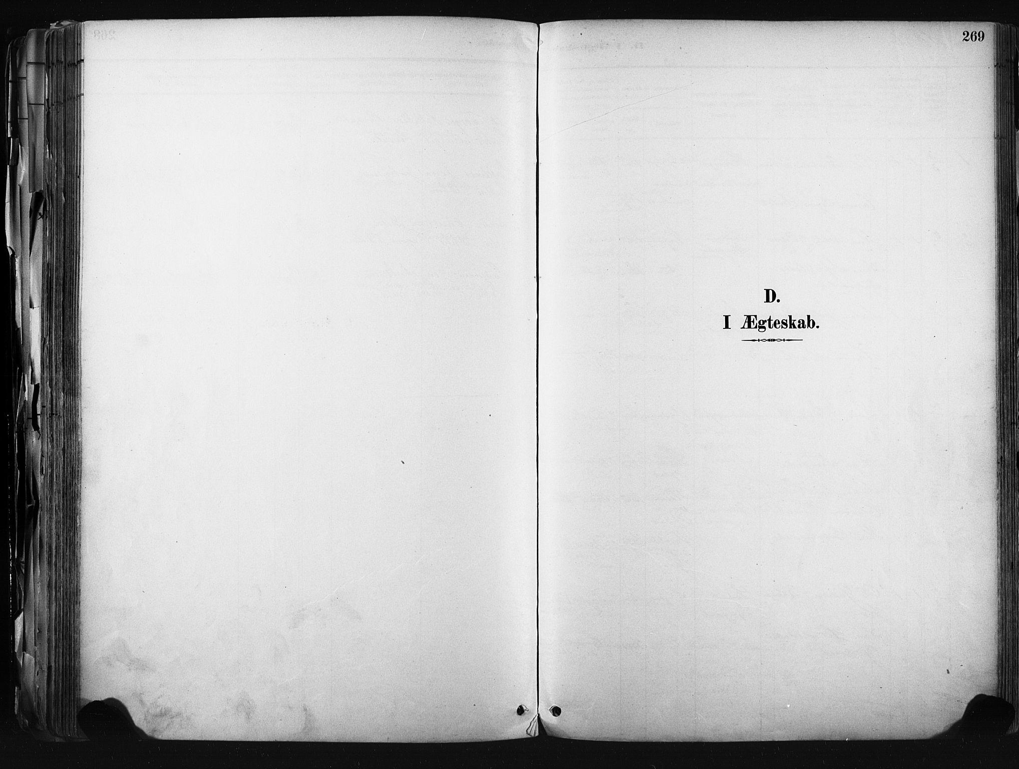 SAKO, Kongsberg kirkebøker, F/Fb/L0002: Ministerialbok nr. II 2, 1886-1896, s. 269