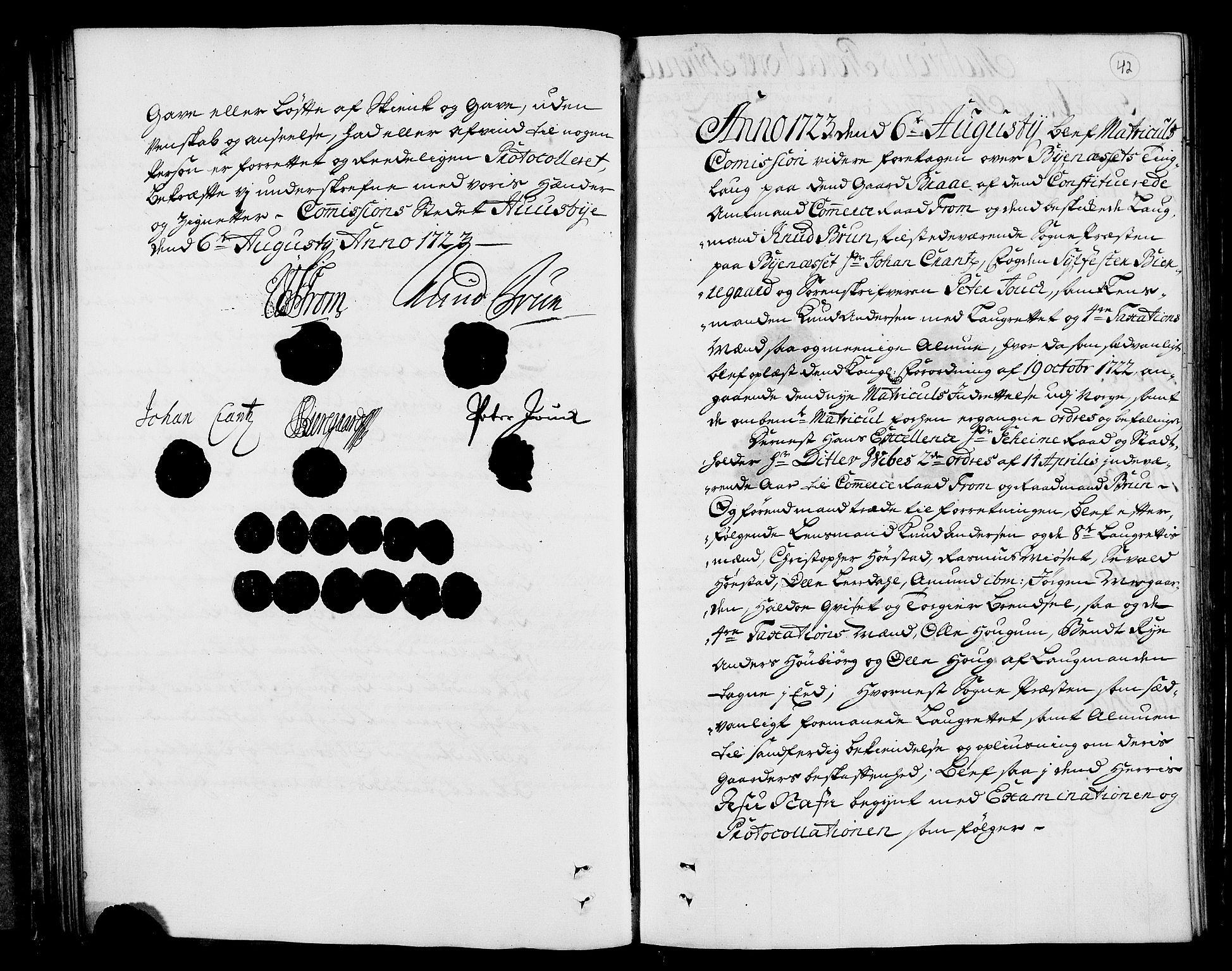 RA, Rentekammeret inntil 1814, Realistisk ordnet avdeling, N/Nb/Nbf/L0160: Strinda og Selbu eksaminasjonsprotokoll, 1723, s. 41b-42a