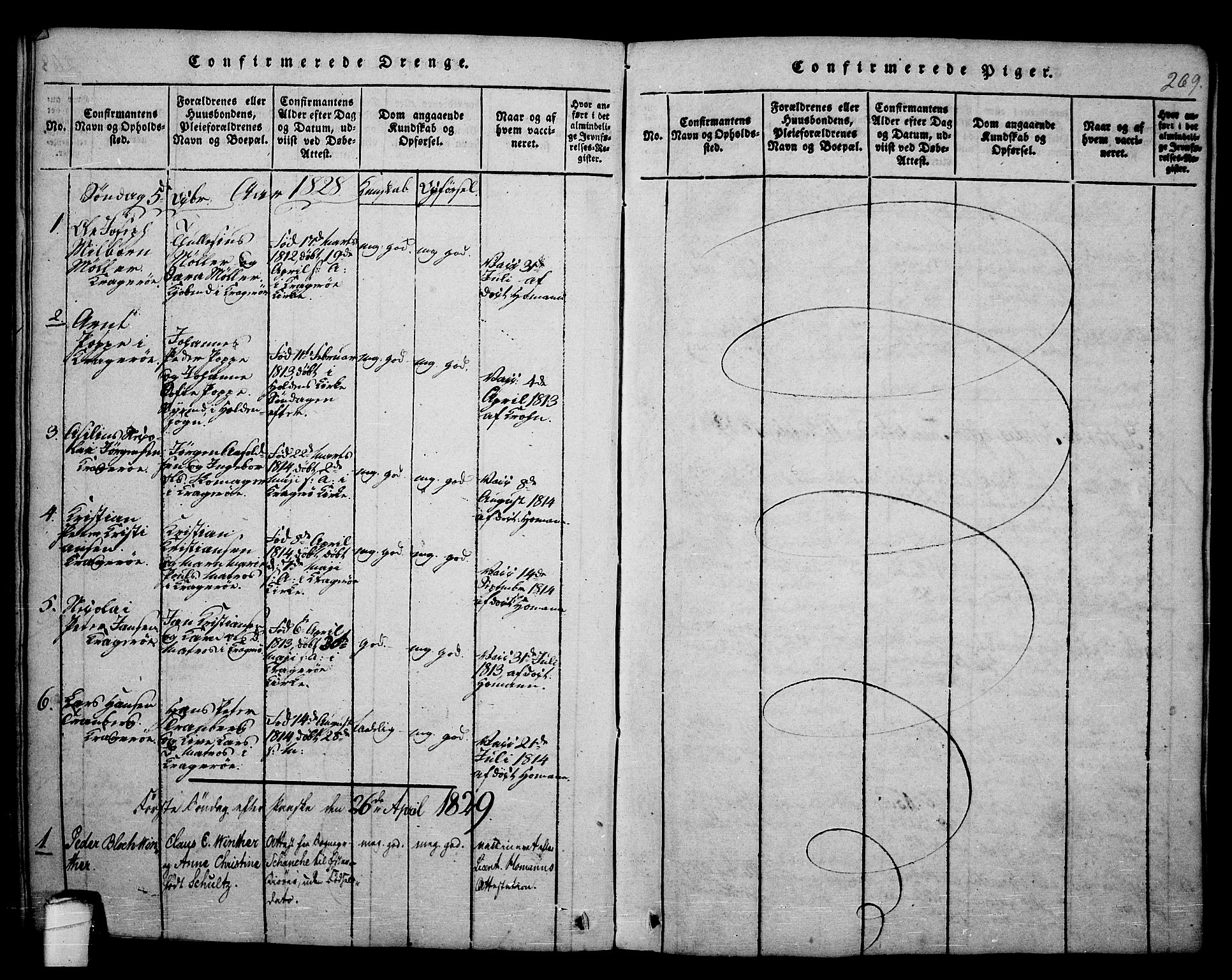 SAKO, Kragerø kirkebøker, F/Fa/L0004: Ministerialbok nr. 4, 1814-1831, s. 269