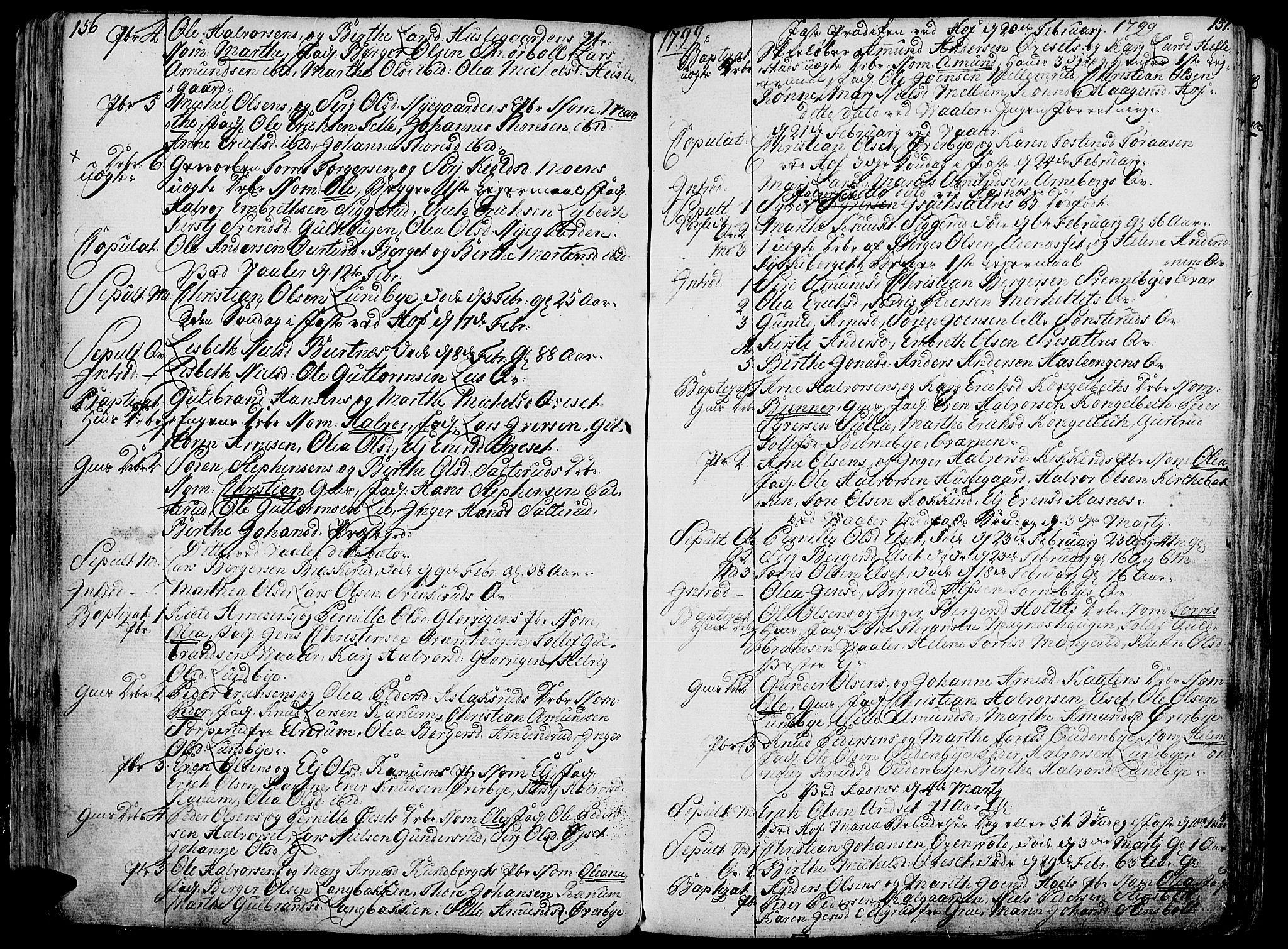 SAH, Hof prestekontor, Ministerialbok nr. 4, 1790-1815, s. 156-157