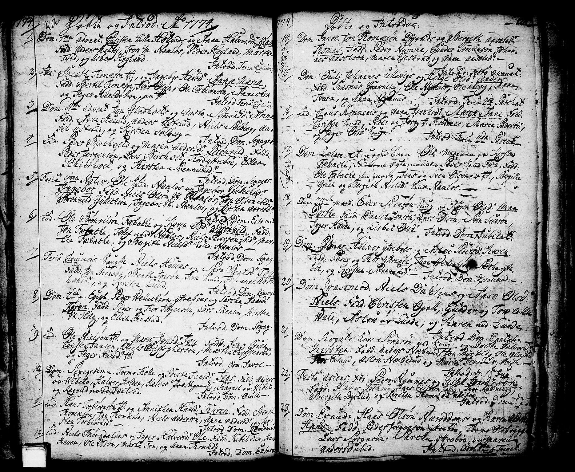 SAKO, Holla kirkebøker, F/Fa/L0001: Ministerialbok nr. 1, 1717-1779, s. 128