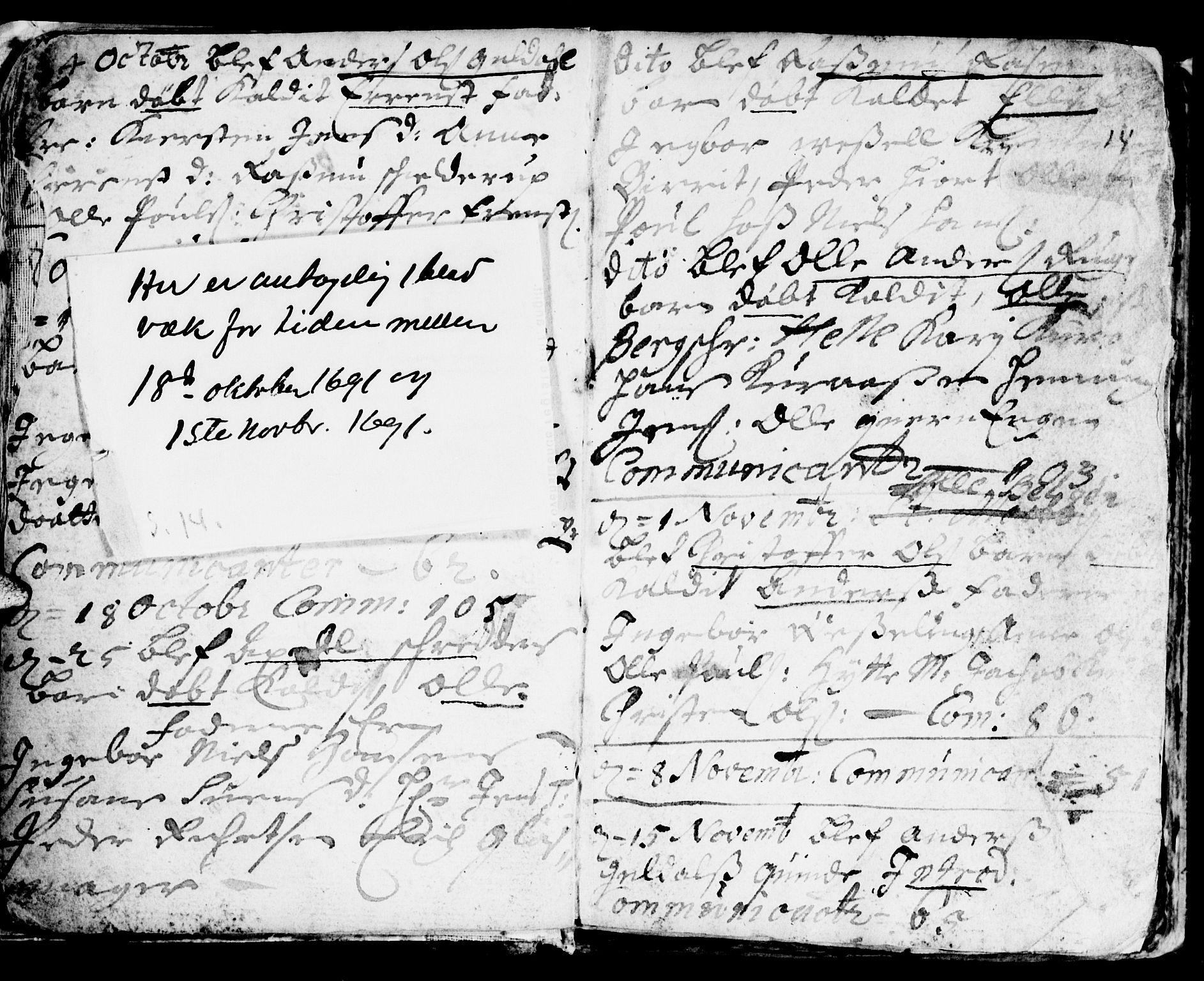 SAT, Ministerialprotokoller, klokkerbøker og fødselsregistre - Sør-Trøndelag, 681/L0923: Ministerialbok nr. 681A01, 1691-1700, s. 14