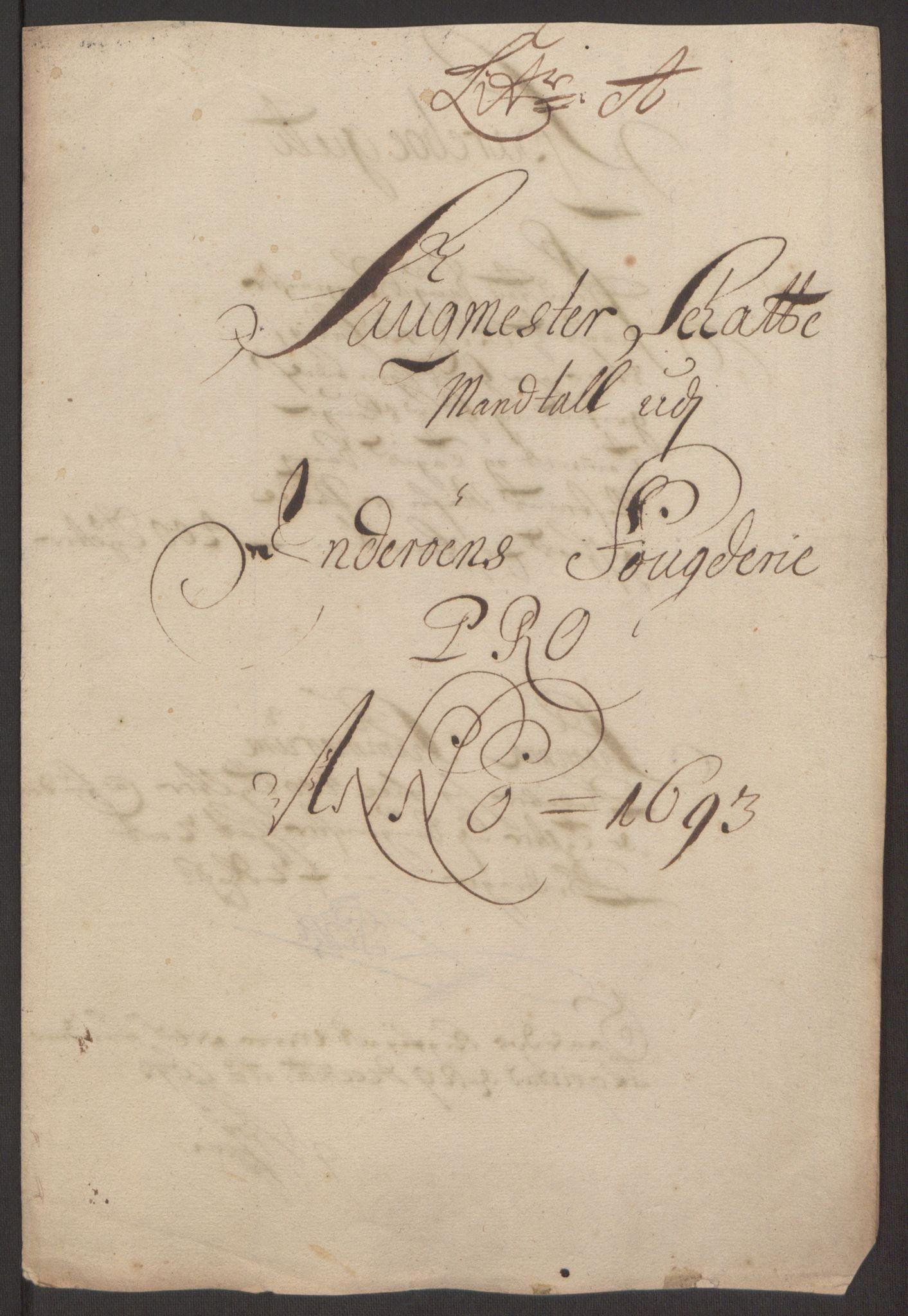 RA, Rentekammeret inntil 1814, Reviderte regnskaper, Fogderegnskap, R63/L4308: Fogderegnskap Inderøy, 1692-1694, s. 423