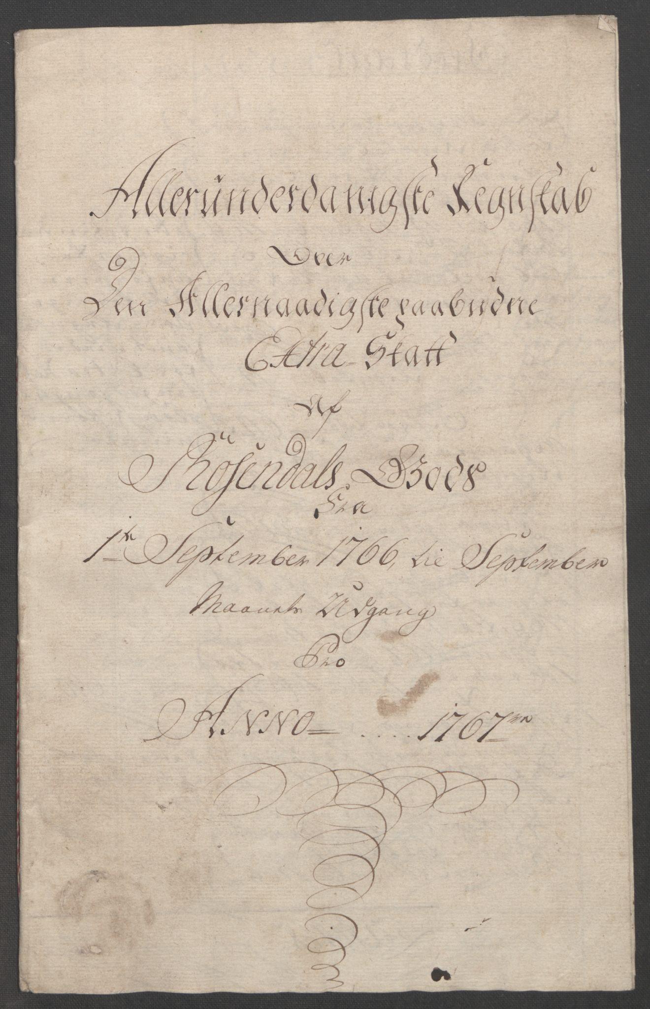 RA, Rentekammeret inntil 1814, Reviderte regnskaper, Fogderegnskap, R49/L3157: Ekstraskatten Rosendal Baroni, 1762-1772, s. 167