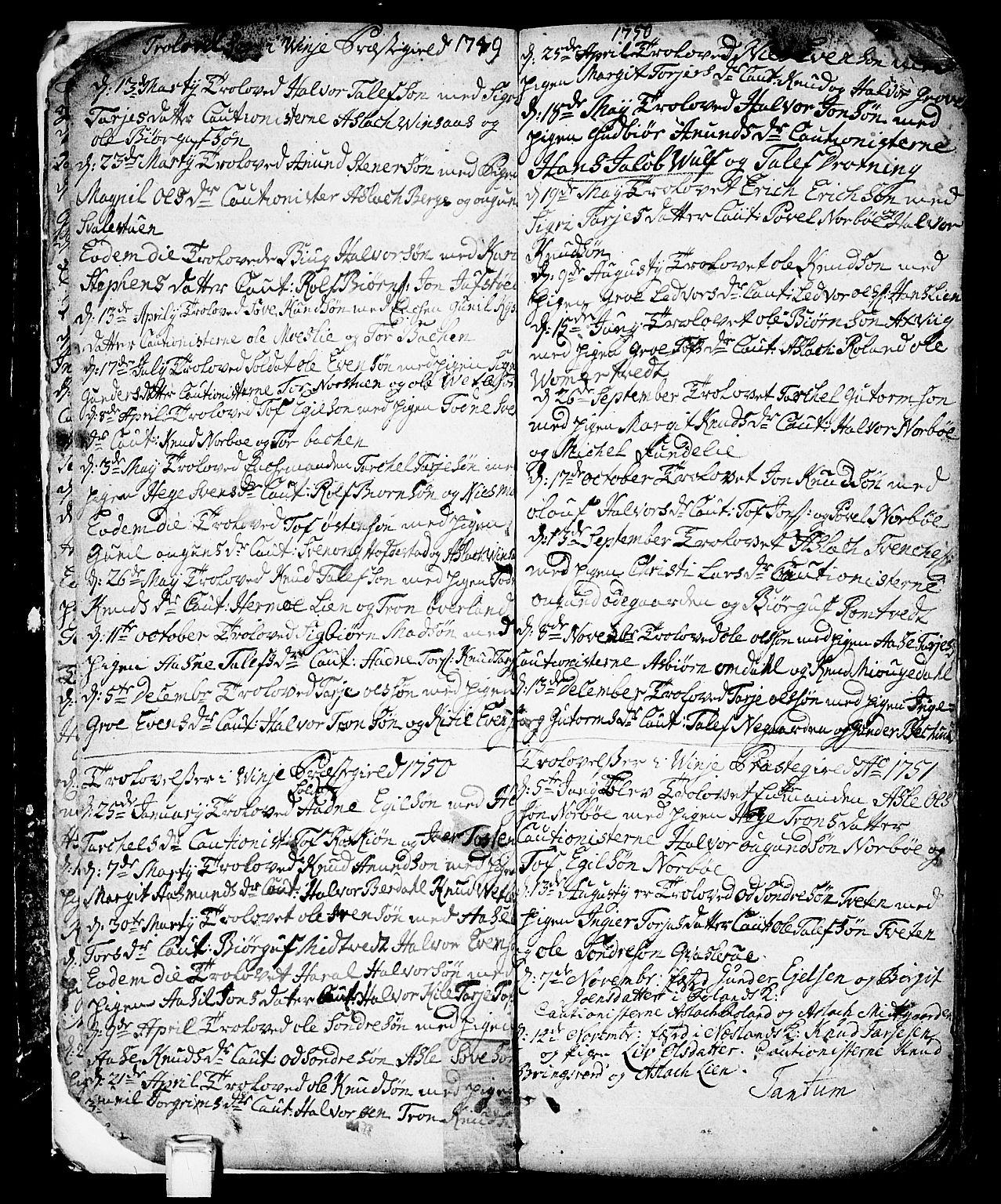 SAKO, Vinje kirkebøker, F/Fa/L0001: Ministerialbok nr. I 1, 1717-1766, s. 11
