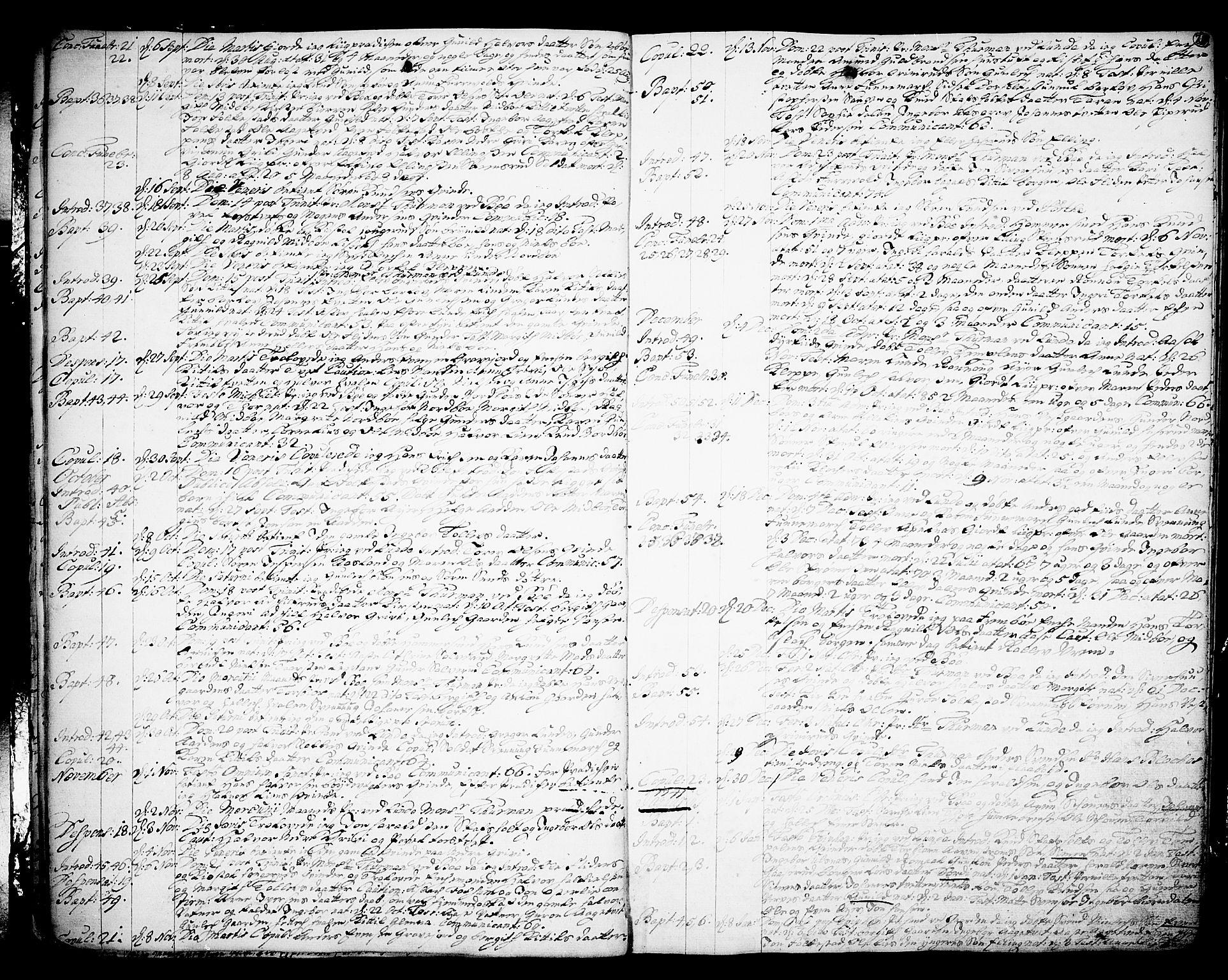 SAKO, Bø kirkebøker, F/Fa/L0003: Ministerialbok nr. 3, 1733-1748, s. 20