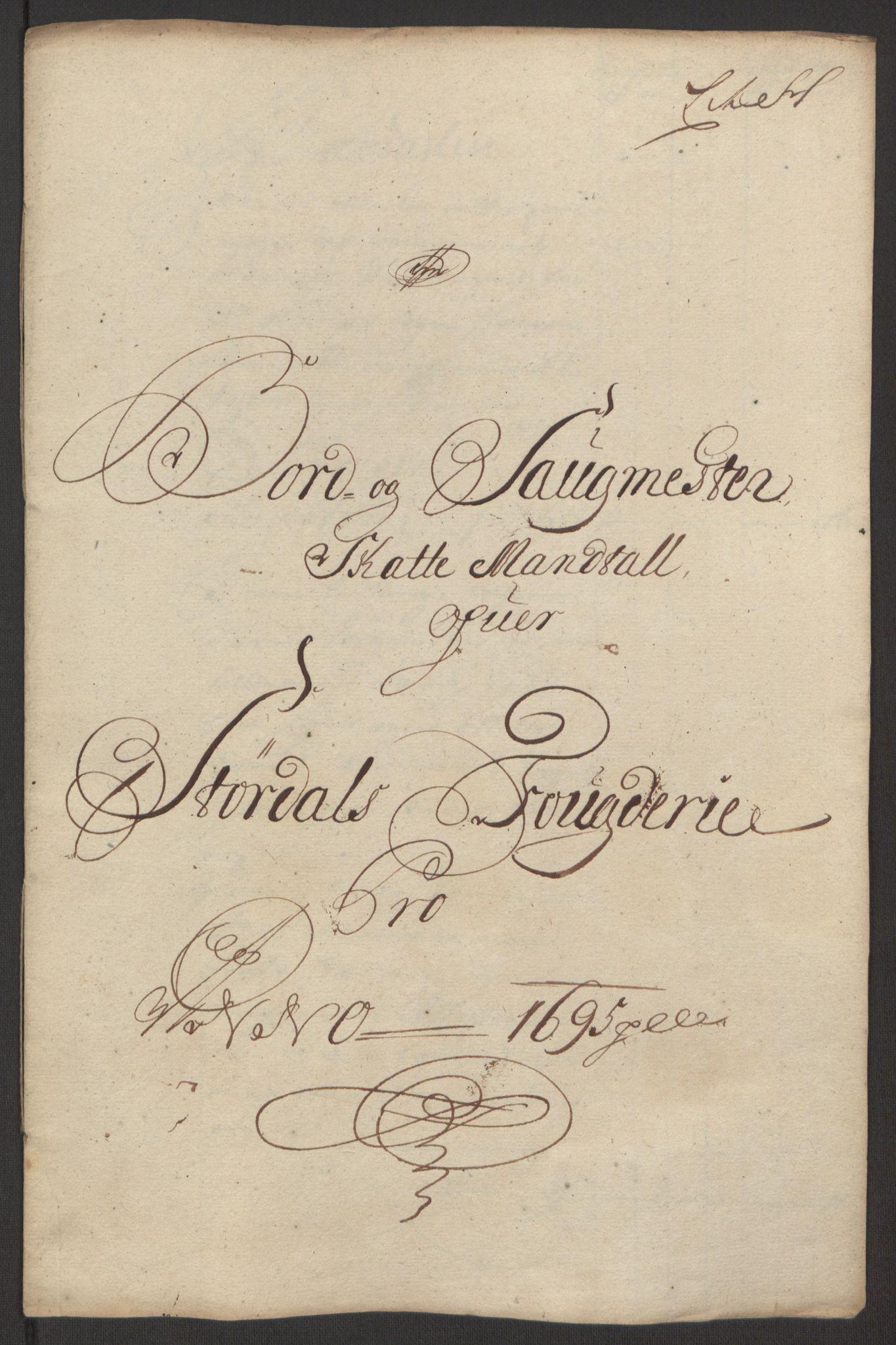 RA, Rentekammeret inntil 1814, Reviderte regnskaper, Fogderegnskap, R62/L4187: Fogderegnskap Stjørdal og Verdal, 1695, s. 120