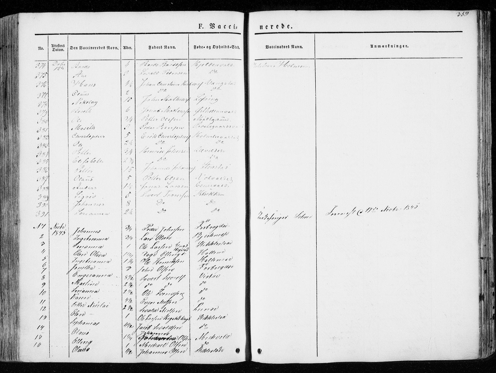 SAT, Ministerialprotokoller, klokkerbøker og fødselsregistre - Nord-Trøndelag, 723/L0239: Ministerialbok nr. 723A08, 1841-1851, s. 359