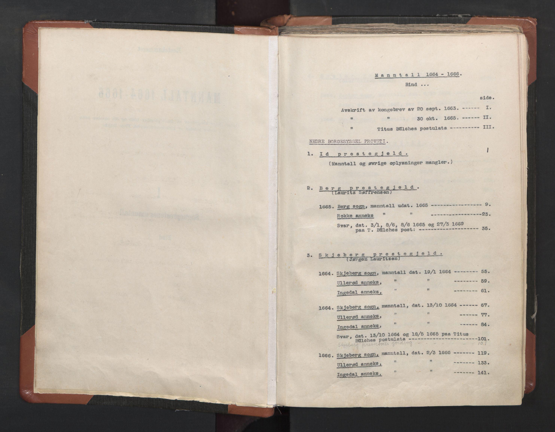 RA, Sogneprestenes manntall 1664-1666, nr. 1: Nedre Borgesyssel prosti, 1664-1666, s. upaginert