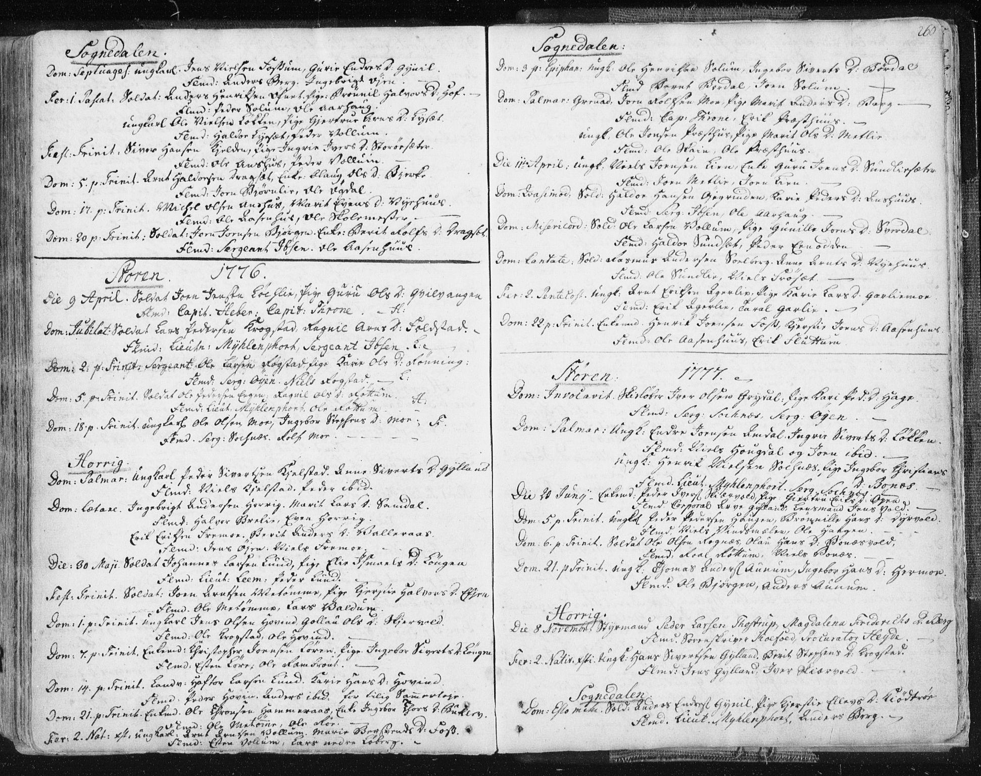 SAT, Ministerialprotokoller, klokkerbøker og fødselsregistre - Sør-Trøndelag, 687/L0991: Ministerialbok nr. 687A02, 1747-1790, s. 260