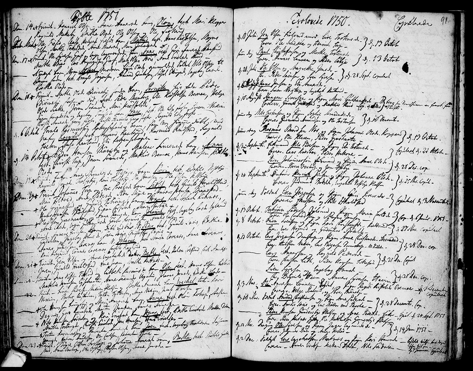 SAO, Rakkestad prestekontor Kirkebøker, F/Fa/L0002: Ministerialbok nr. I 2, 1741-1751, s. 91