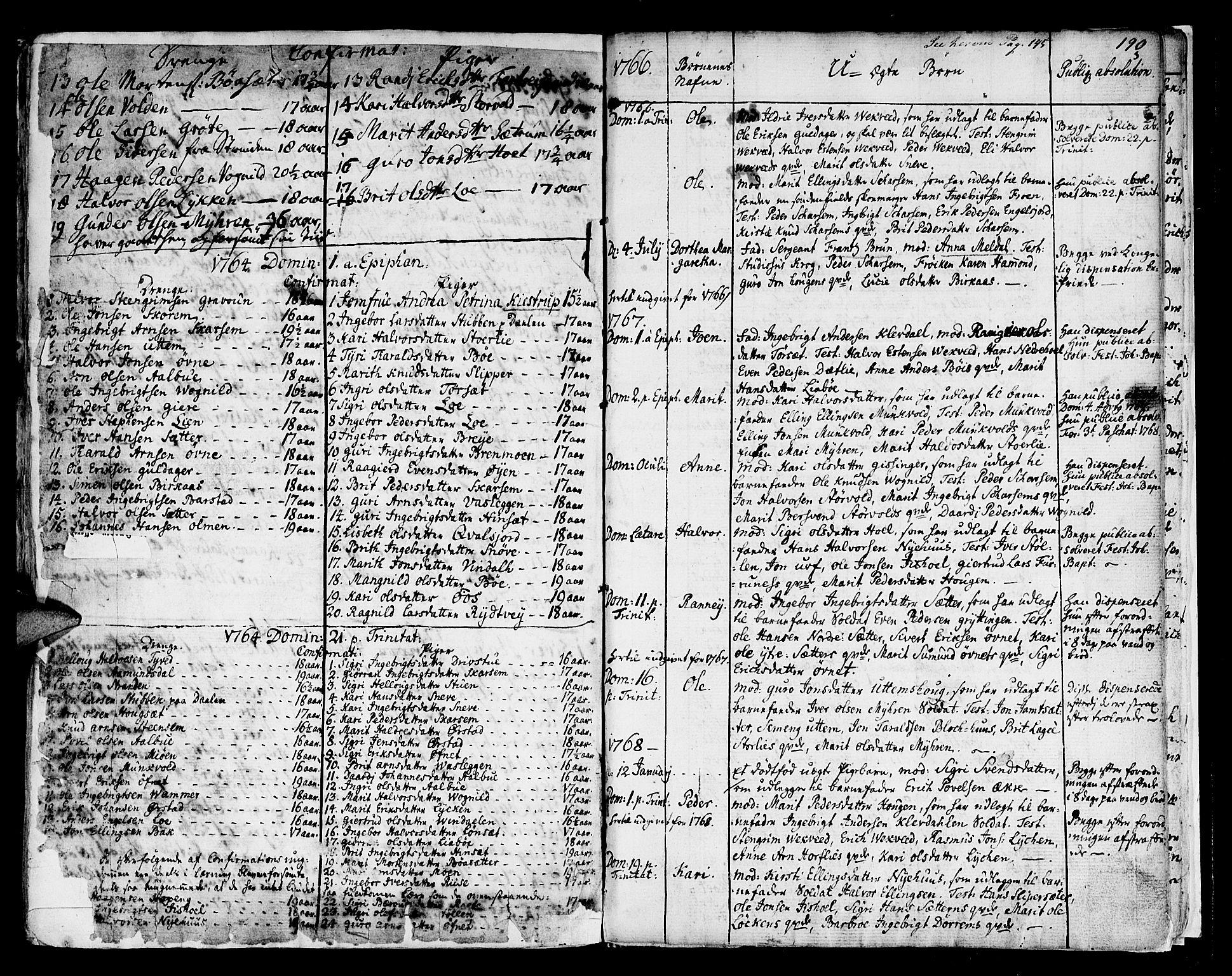 SAT, Ministerialprotokoller, klokkerbøker og fødselsregistre - Sør-Trøndelag, 678/L0891: Ministerialbok nr. 678A01, 1739-1780, s. 190