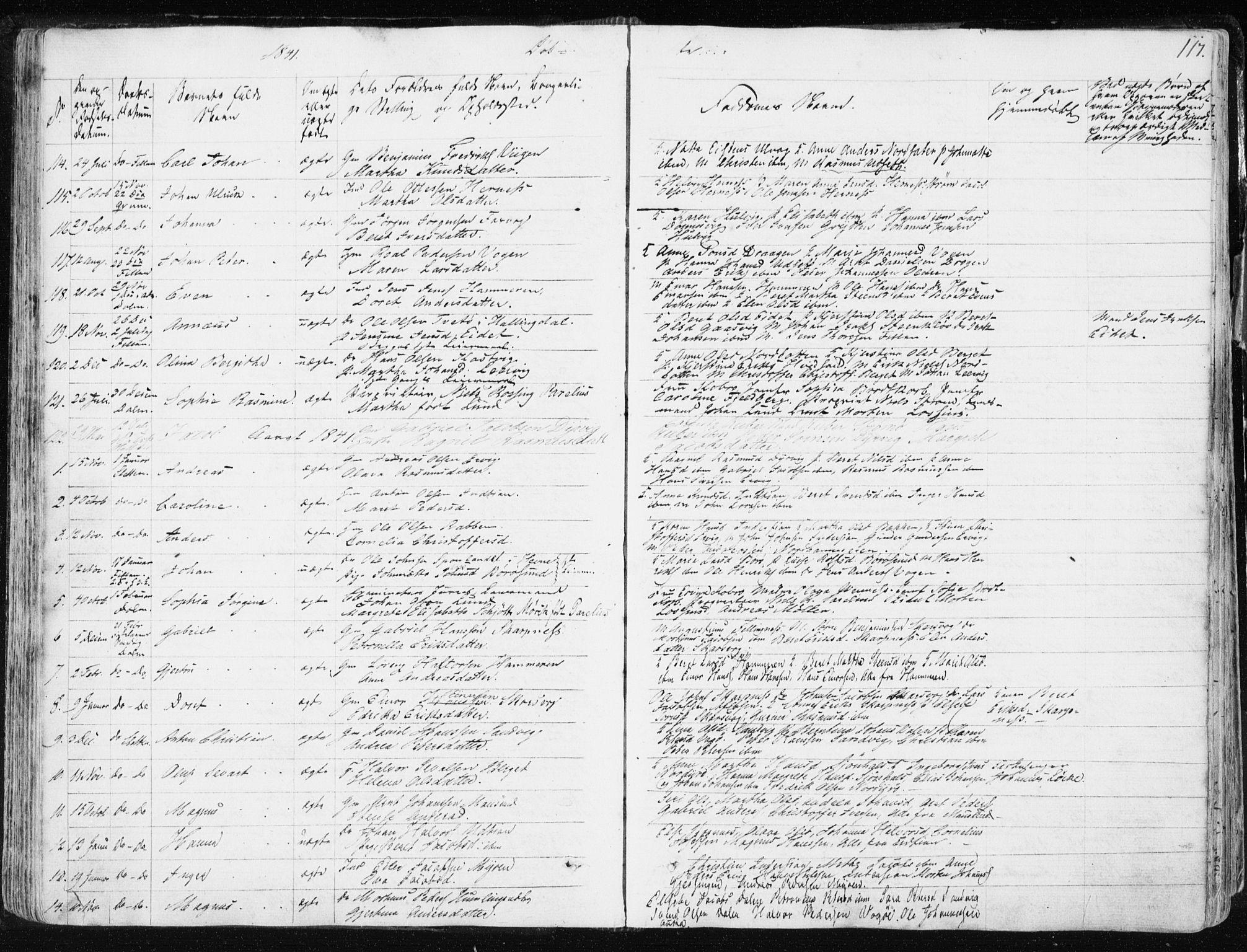 SAT, Ministerialprotokoller, klokkerbøker og fødselsregistre - Sør-Trøndelag, 634/L0528: Ministerialbok nr. 634A04, 1827-1842, s. 117