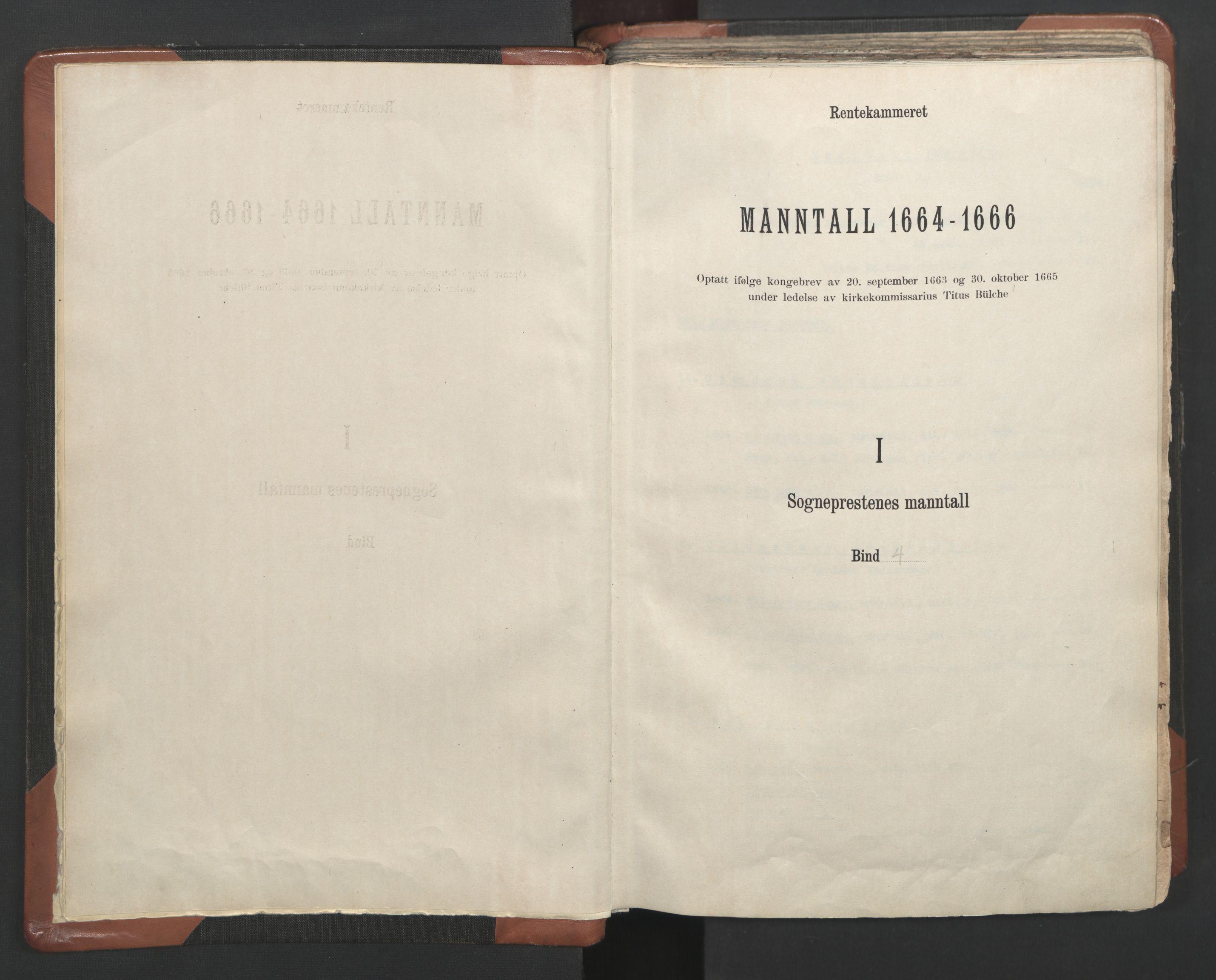 RA, Sogneprestenes manntall 1664-1666, nr. 4: Øvre Romerike prosti, 1664-1666, s. upaginert