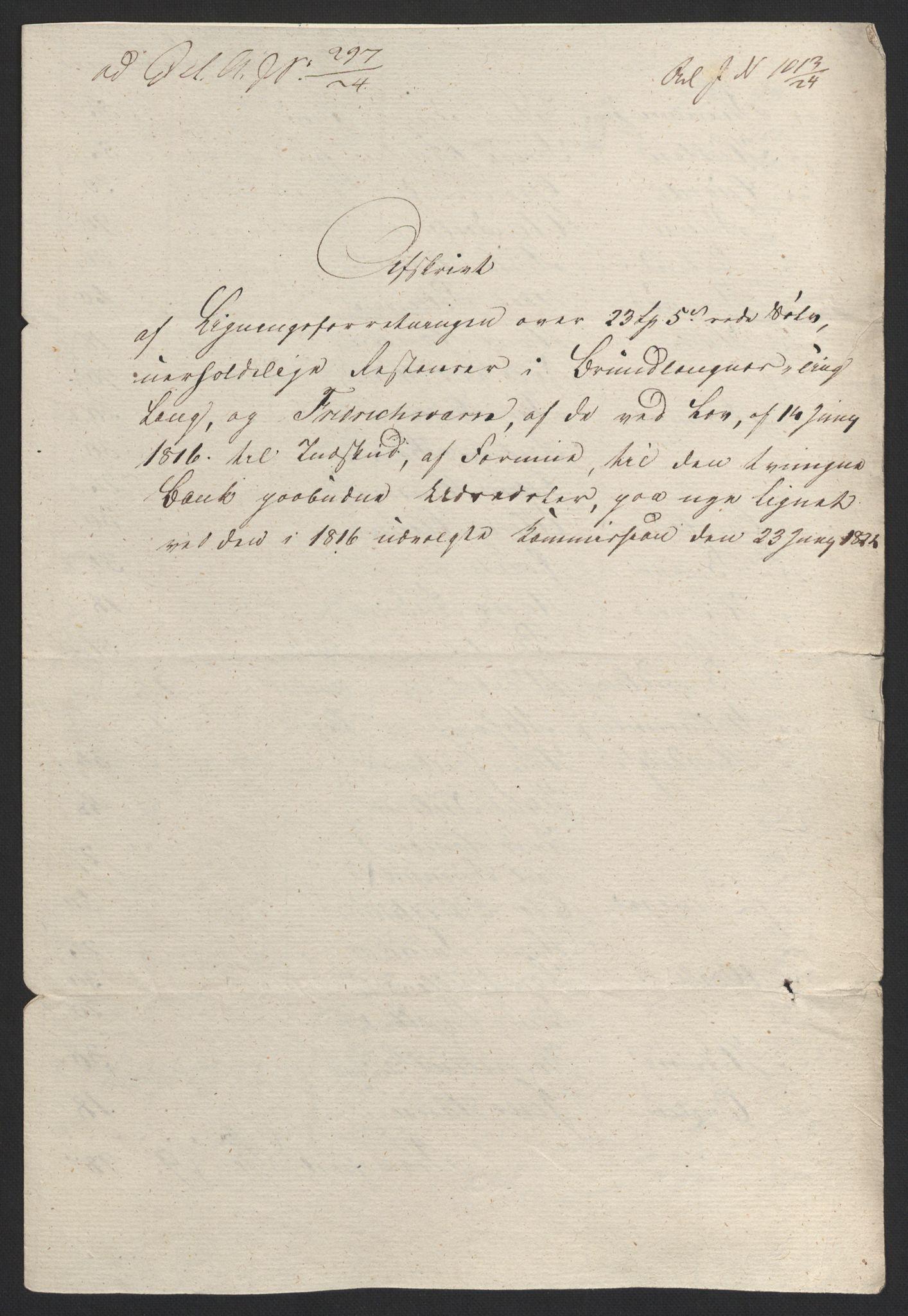 NOBA, Norges Bank/Sølvskatten 1816*, 1816-1824, s. 40