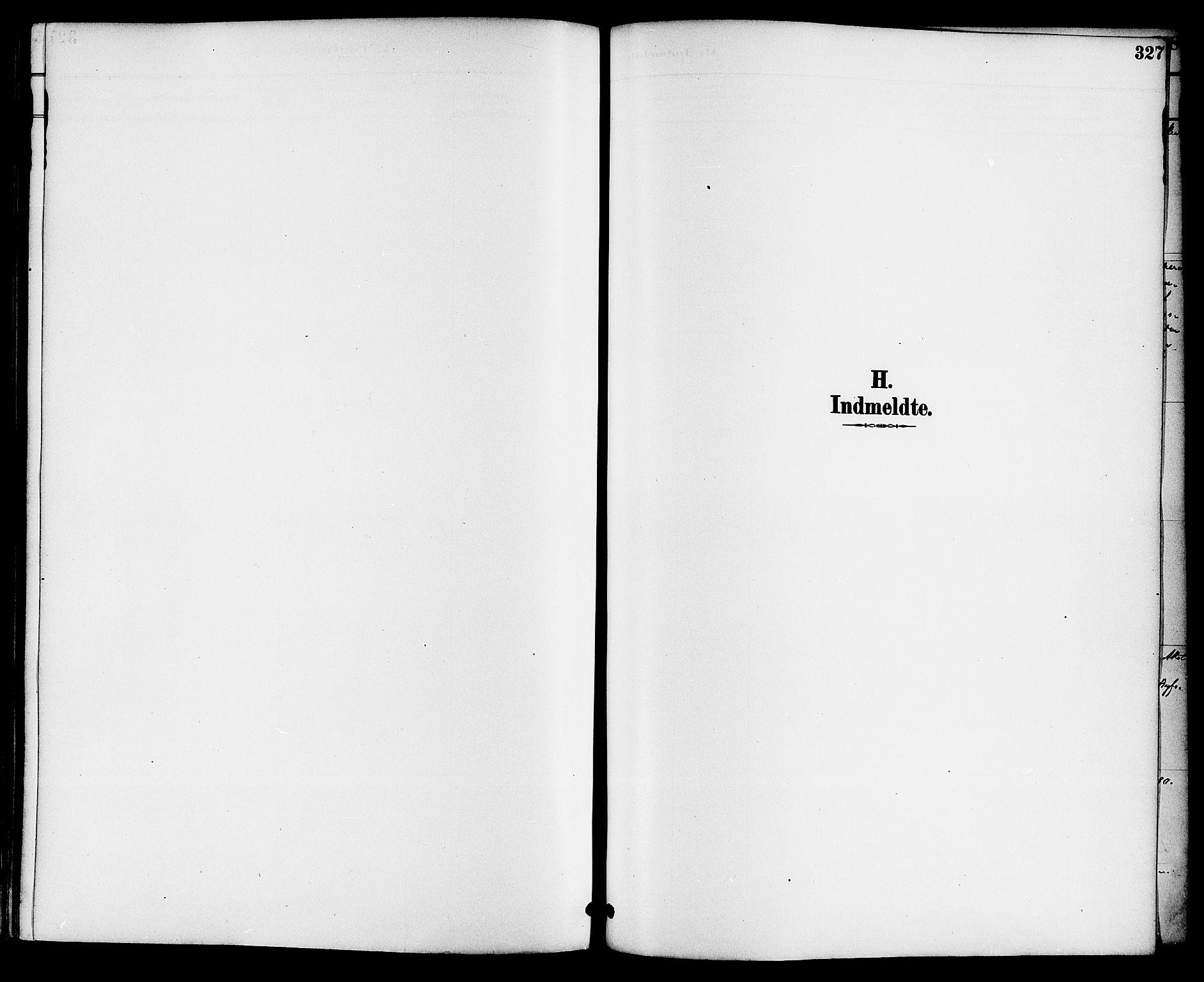 SAKO, Gjerpen kirkebøker, F/Fa/L0010: Ministerialbok nr. 10, 1886-1895, s. 327