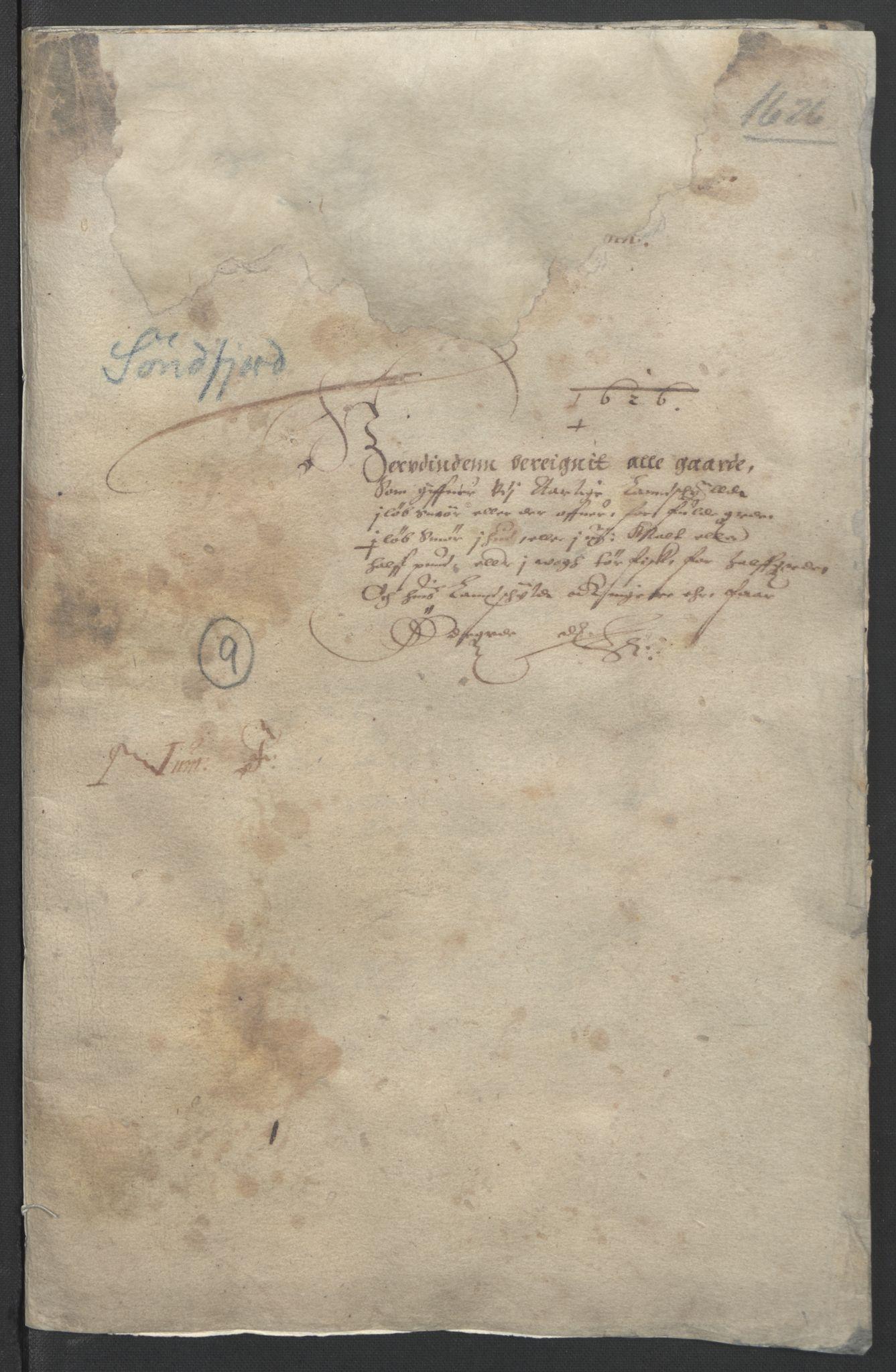 RA, Stattholderembetet 1572-1771, Ek/L0005: Jordebøker til utlikning av garnisonsskatt 1624-1626:, 1626, s. 3