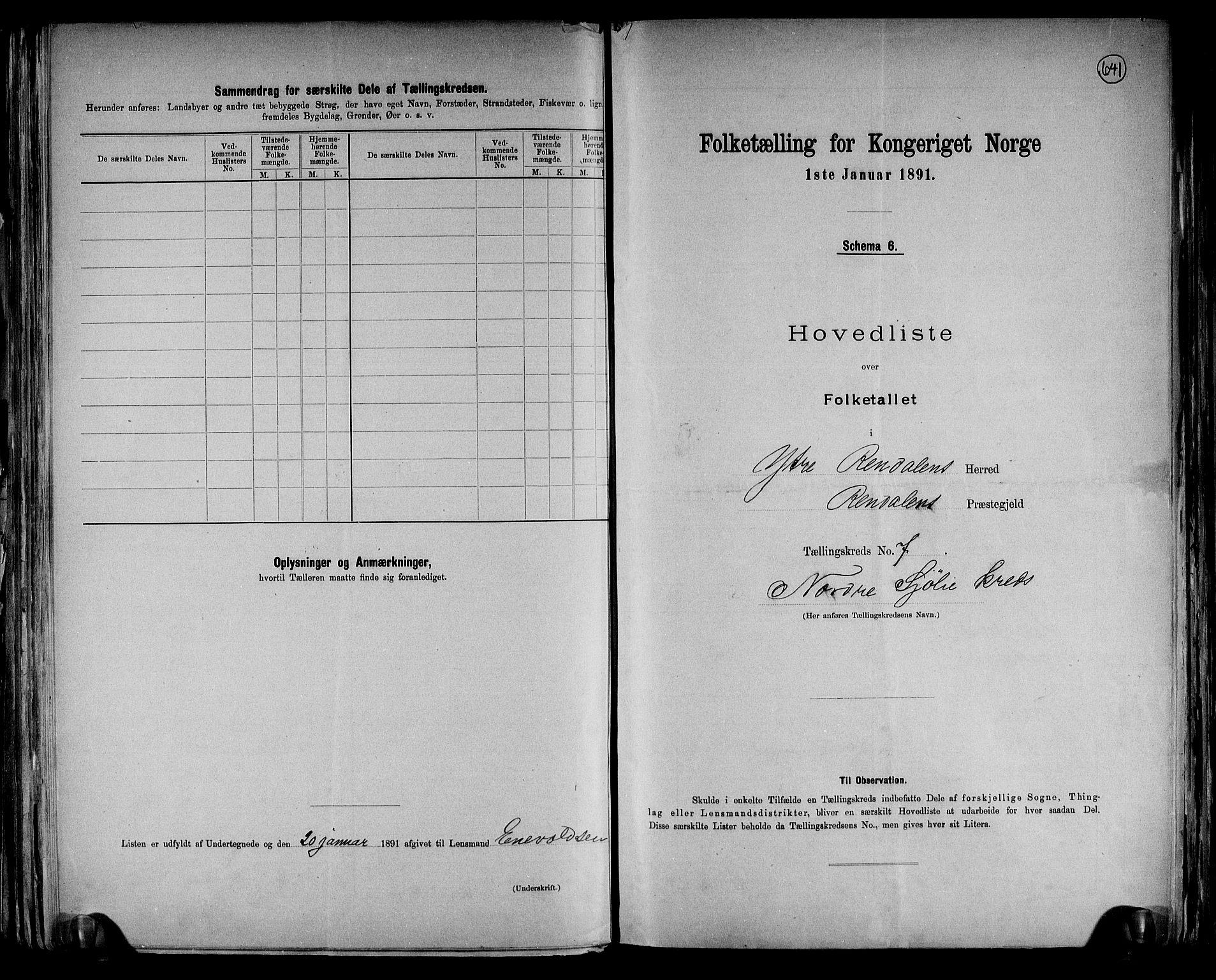 RA, Folketelling 1891 for 0432 Ytre Rendal herred, 1891, s. 17