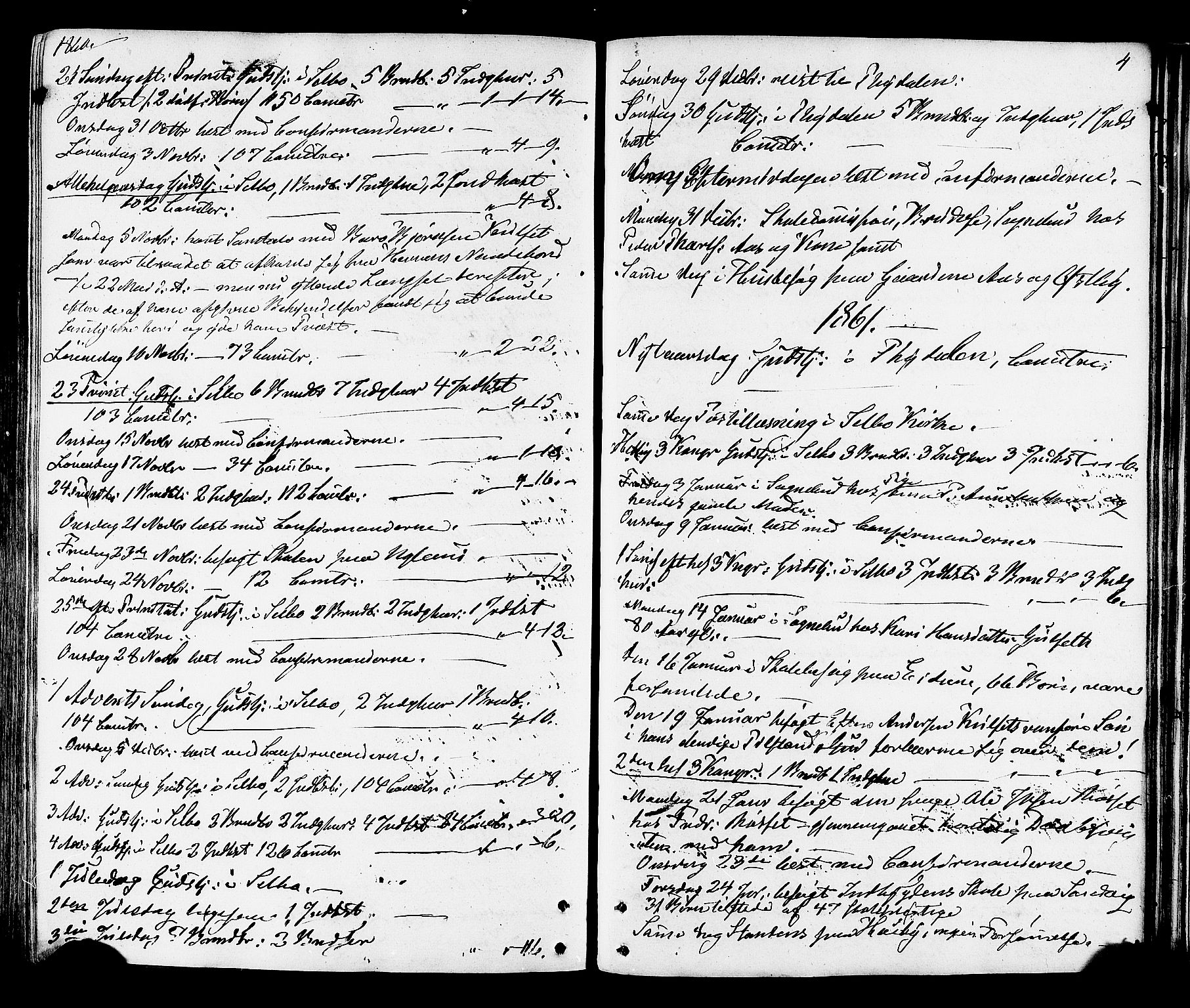 SAT, Ministerialprotokoller, klokkerbøker og fødselsregistre - Sør-Trøndelag, 695/L1147: Ministerialbok nr. 695A07, 1860-1877, s. 4