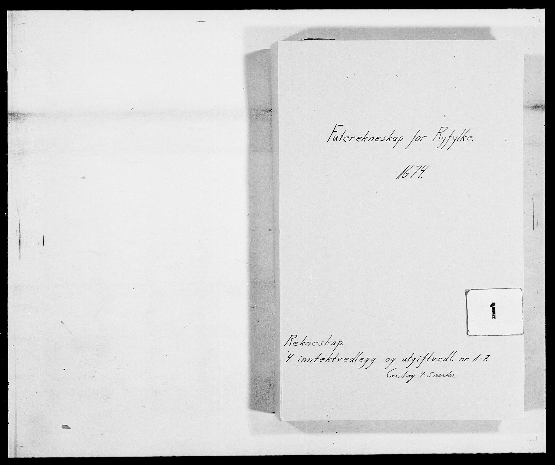 RA, Rentekammeret inntil 1814, Reviderte regnskaper, Fogderegnskap, R47/L2845: Fogderegnskap Ryfylke, 1674-1675, s. 1