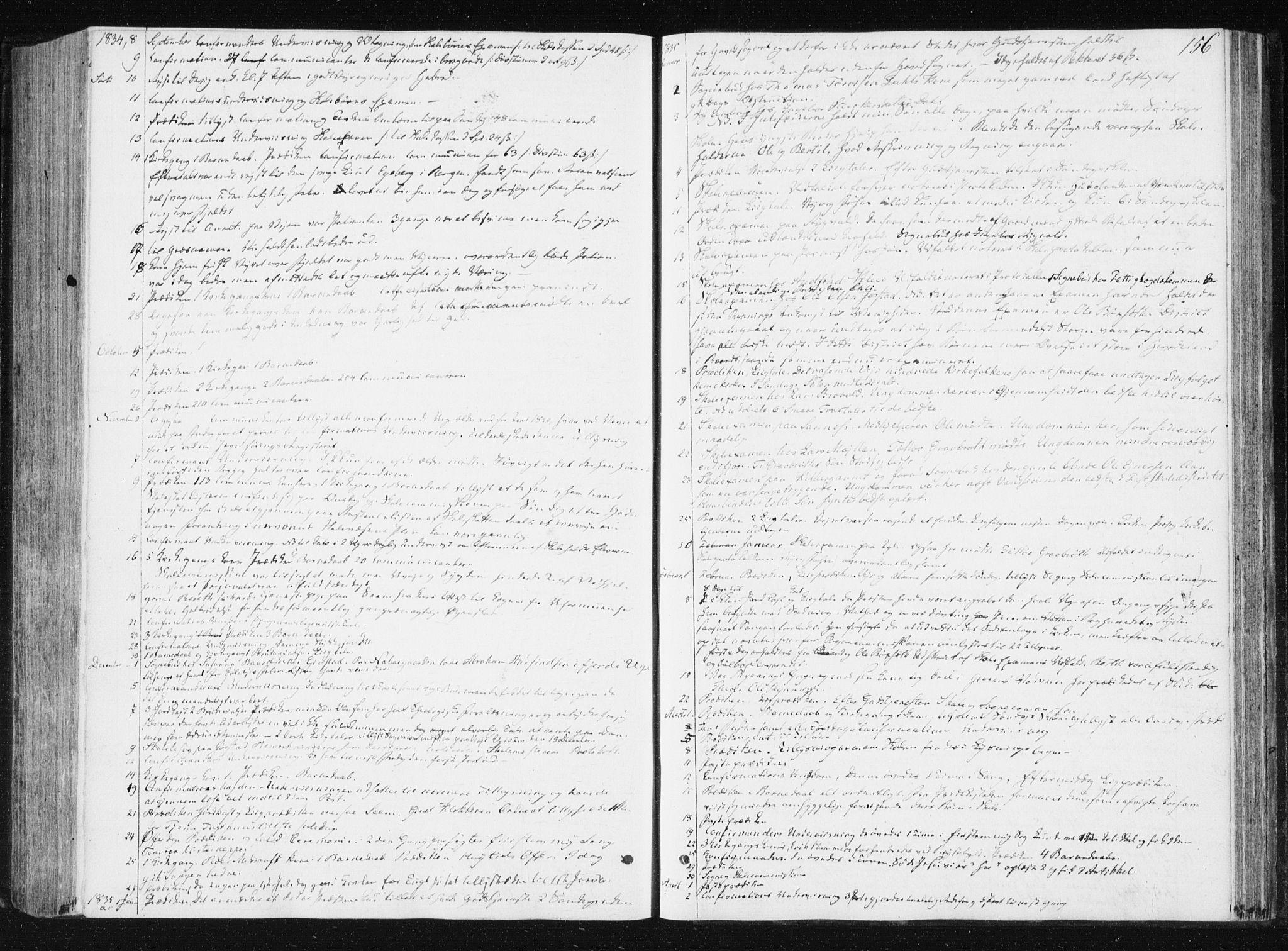 SAT, Ministerialprotokoller, klokkerbøker og fødselsregistre - Nord-Trøndelag, 749/L0470: Ministerialbok nr. 749A04, 1834-1853, s. 156