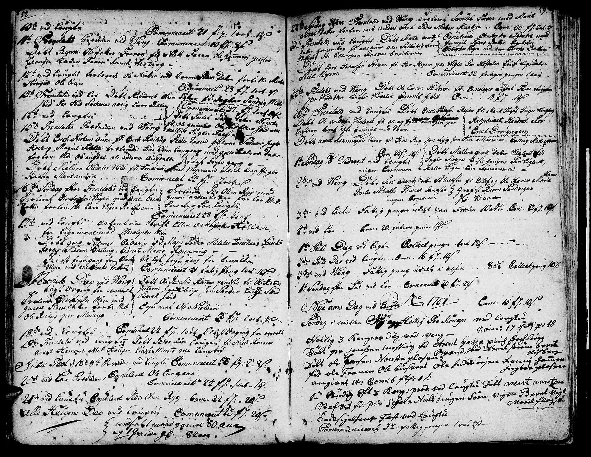 SAT, Ministerialprotokoller, klokkerbøker og fødselsregistre - Nord-Trøndelag, 713/L0109: Ministerialbok nr. 713A01, 1750-1778, s. 58-59