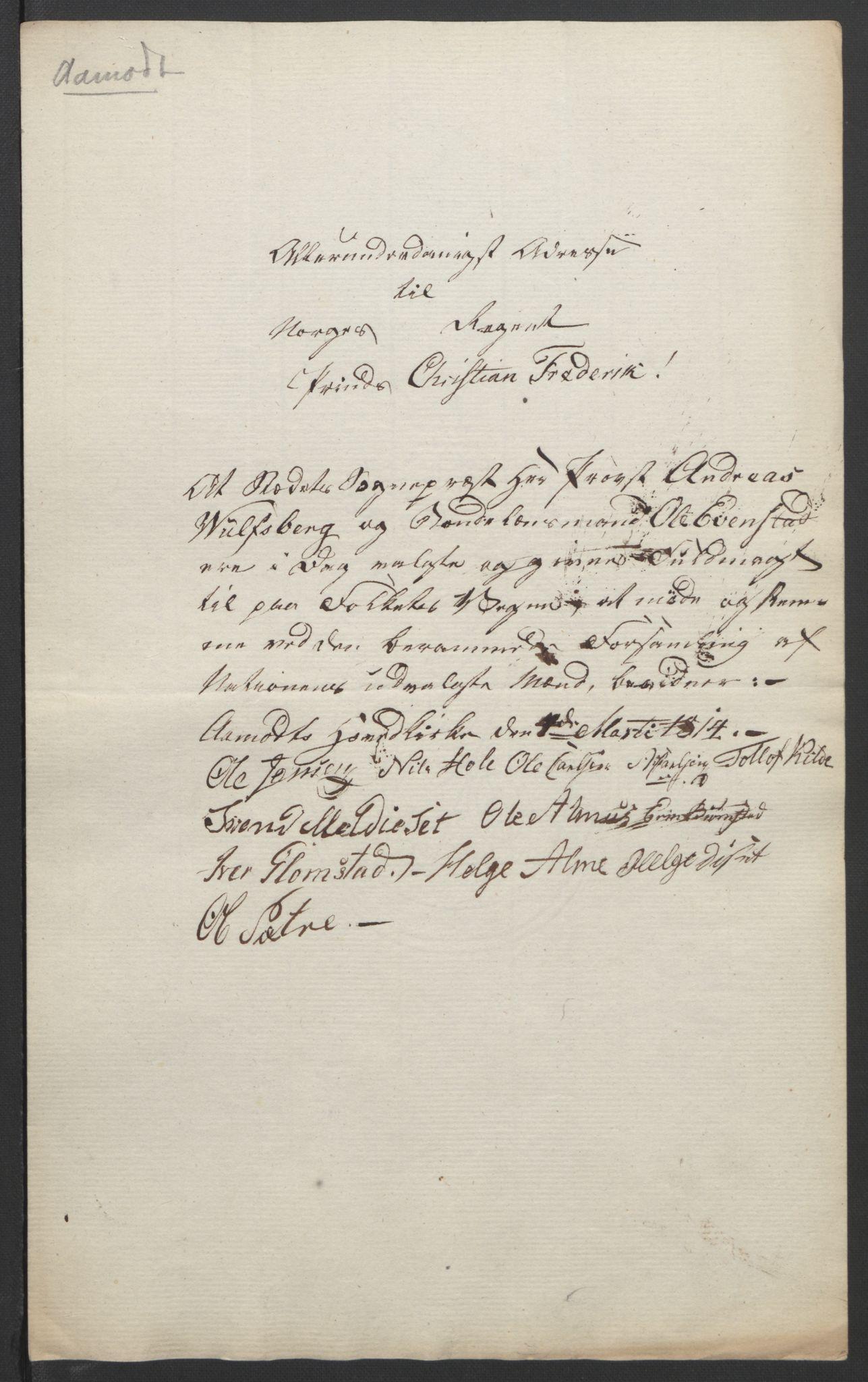 RA, Statsrådssekretariatet, D/Db/L0007: Fullmakter for Eidsvollsrepresentantene i 1814. , 1814, s. 218