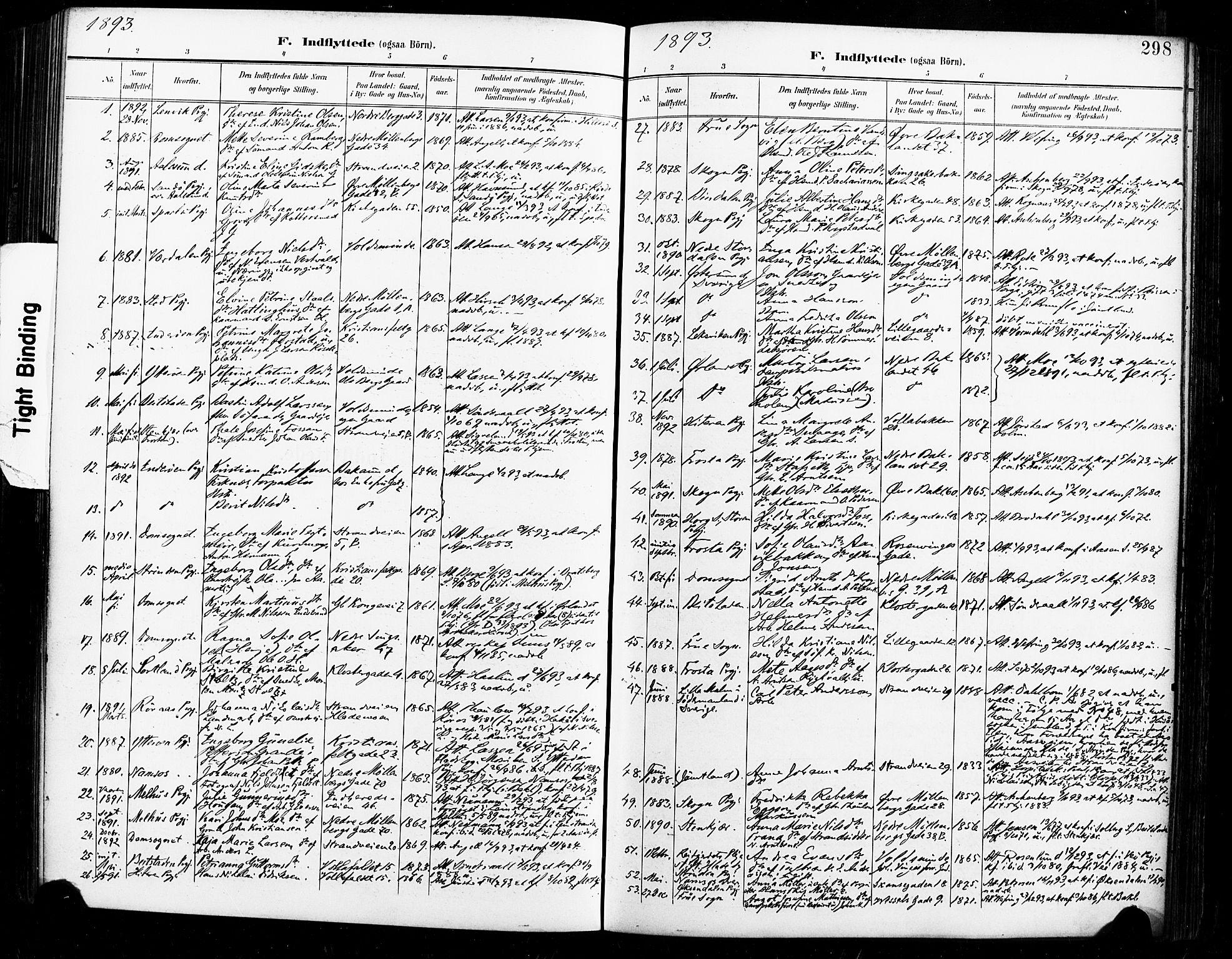 SAT, Ministerialprotokoller, klokkerbøker og fødselsregistre - Sør-Trøndelag, 604/L0198: Ministerialbok nr. 604A19, 1893-1900, s. 298
