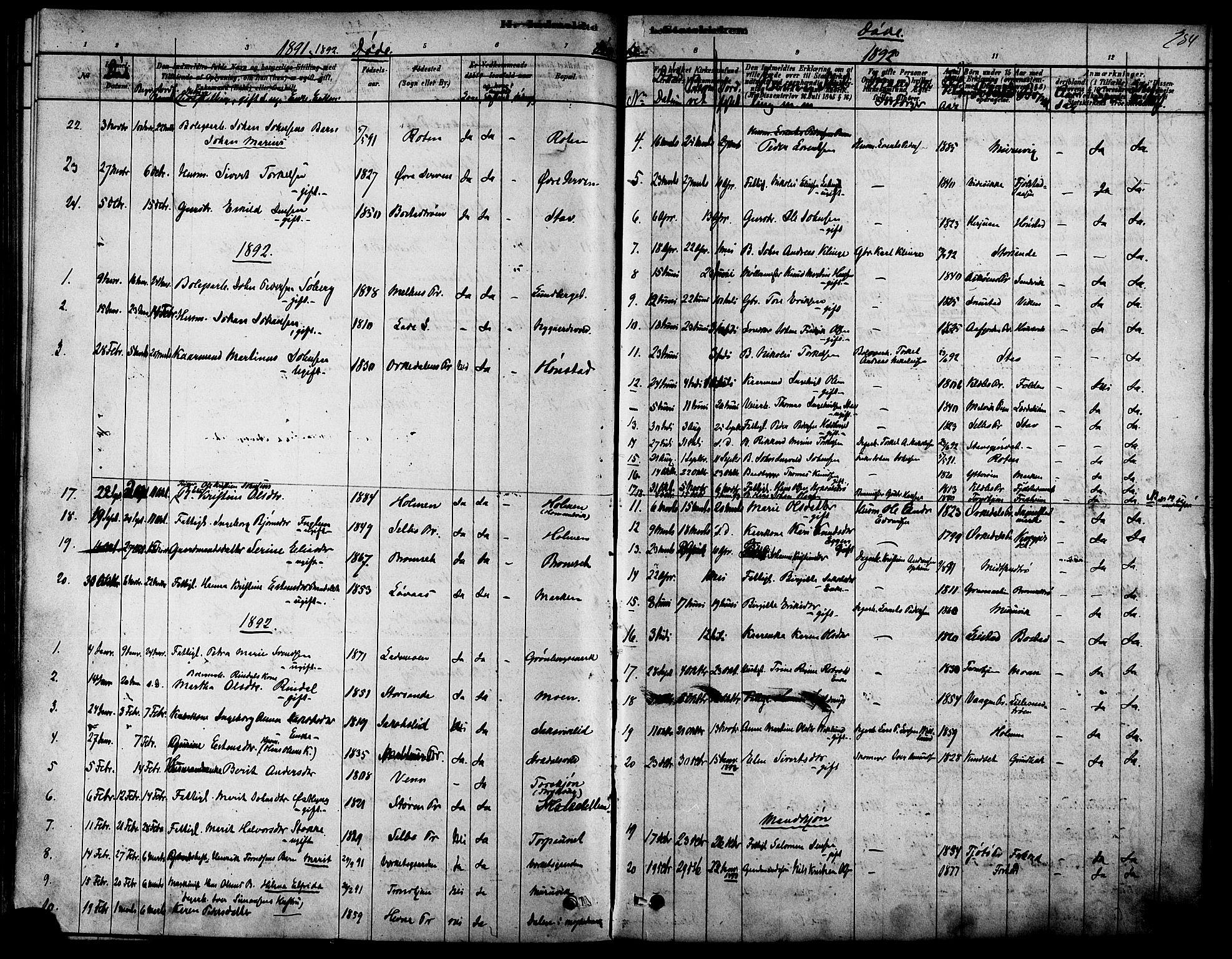 SAT, Ministerialprotokoller, klokkerbøker og fødselsregistre - Sør-Trøndelag, 616/L0410: Ministerialbok nr. 616A07, 1878-1893, s. 284
