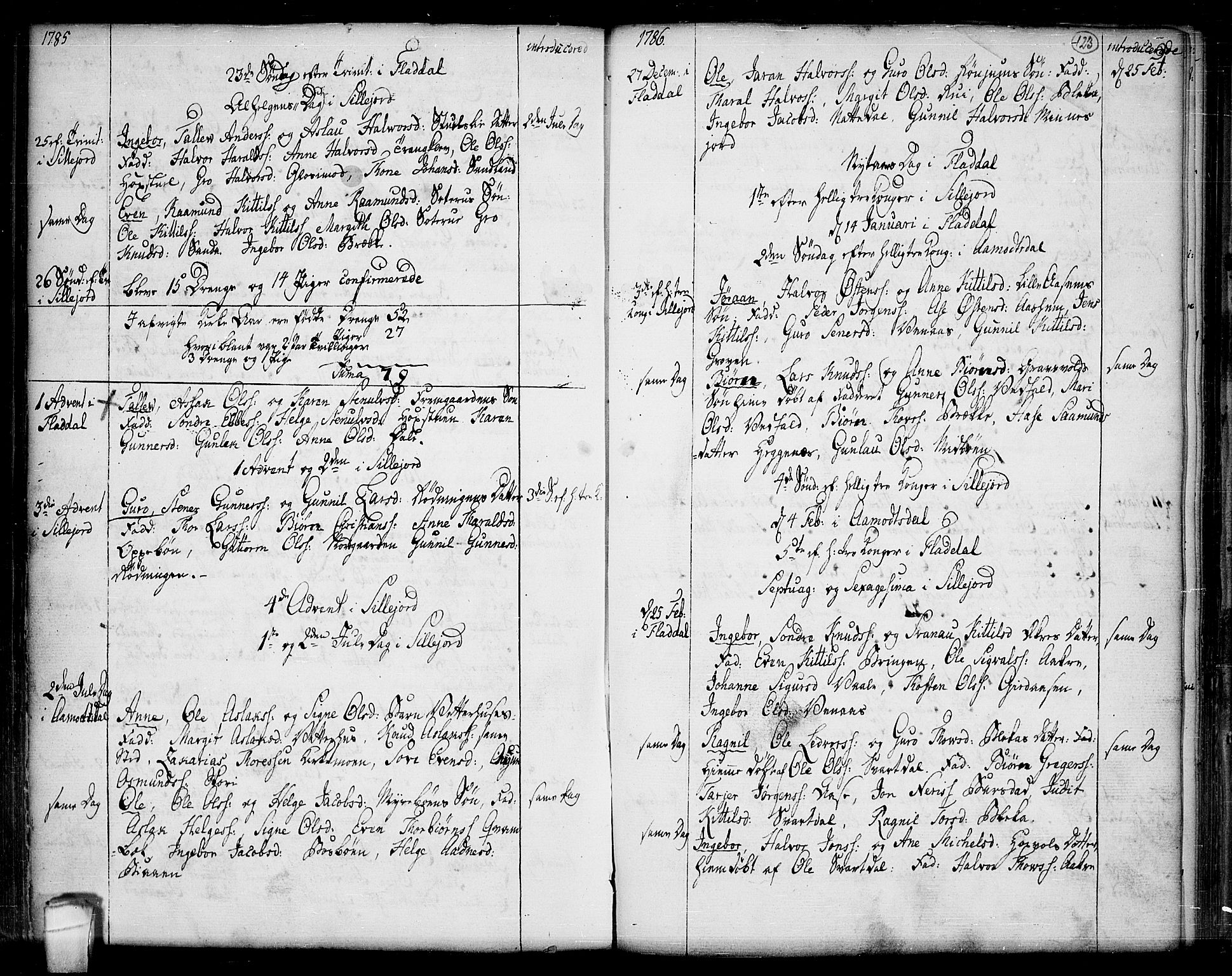 SAKO, Seljord kirkebøker, F/Fa/L0007: Ministerialbok nr. I 7, 1755-1800, s. 123