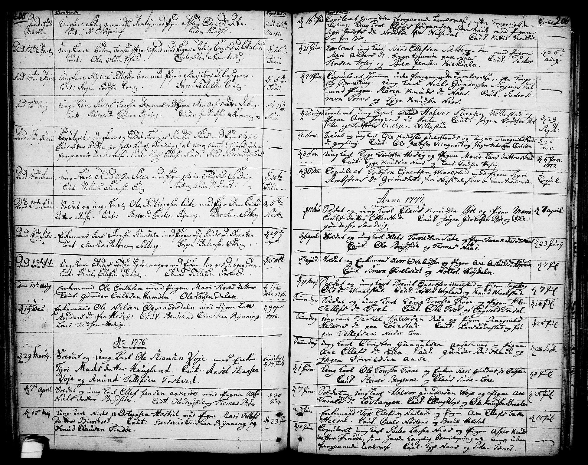 SAKO, Drangedal kirkebøker, F/Fa/L0003: Ministerialbok nr. 3, 1768-1814, s. 205-206