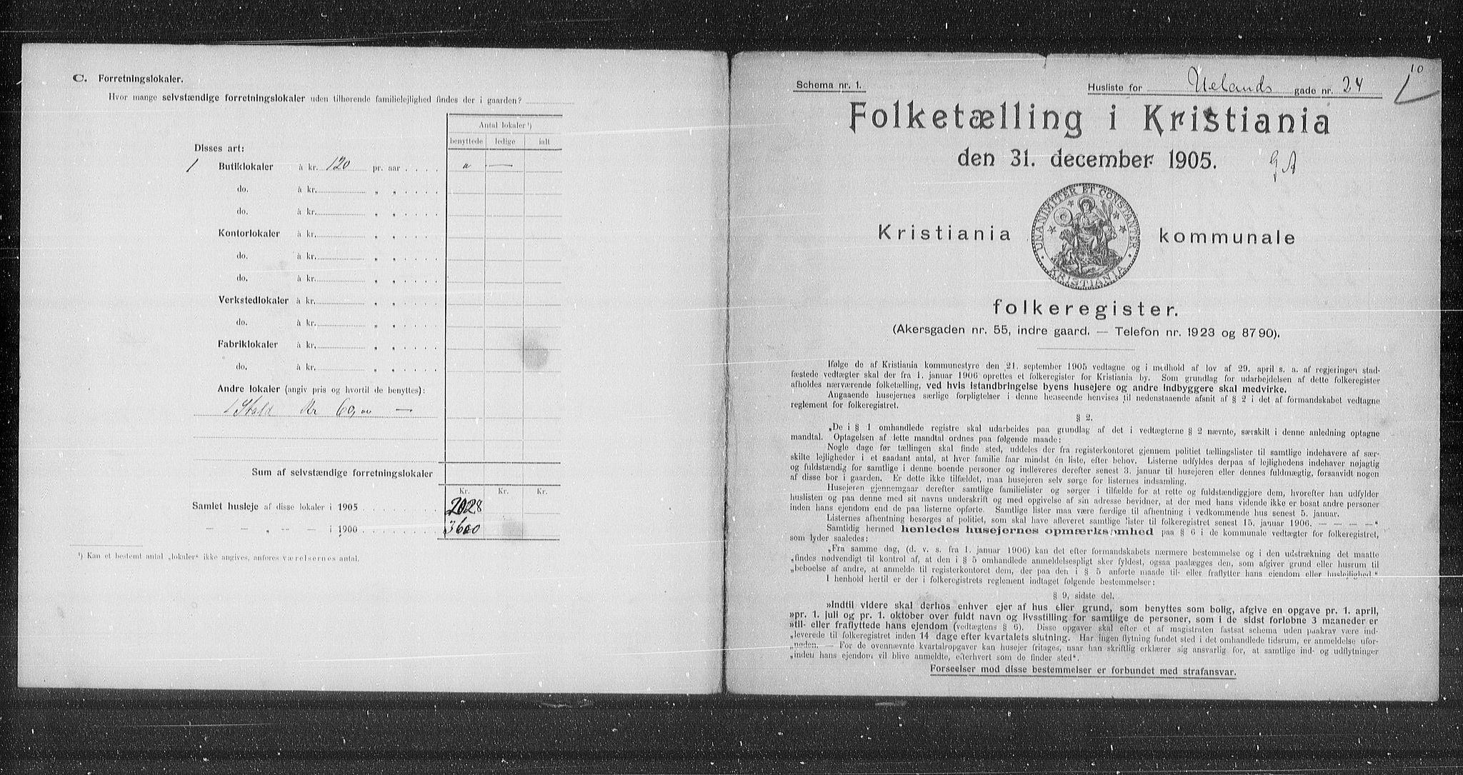 OBA, Kommunal folketelling 1905 for Kristiania kjøpstad, 1905, s. 62314