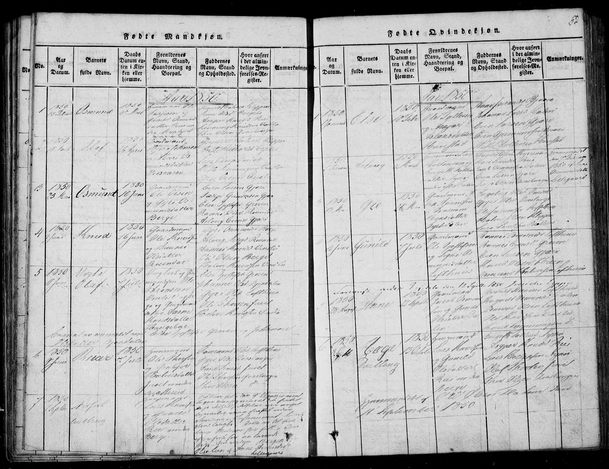 SAKO, Lårdal kirkebøker, F/Fb/L0001: Ministerialbok nr. II 1, 1815-1860, s. 52